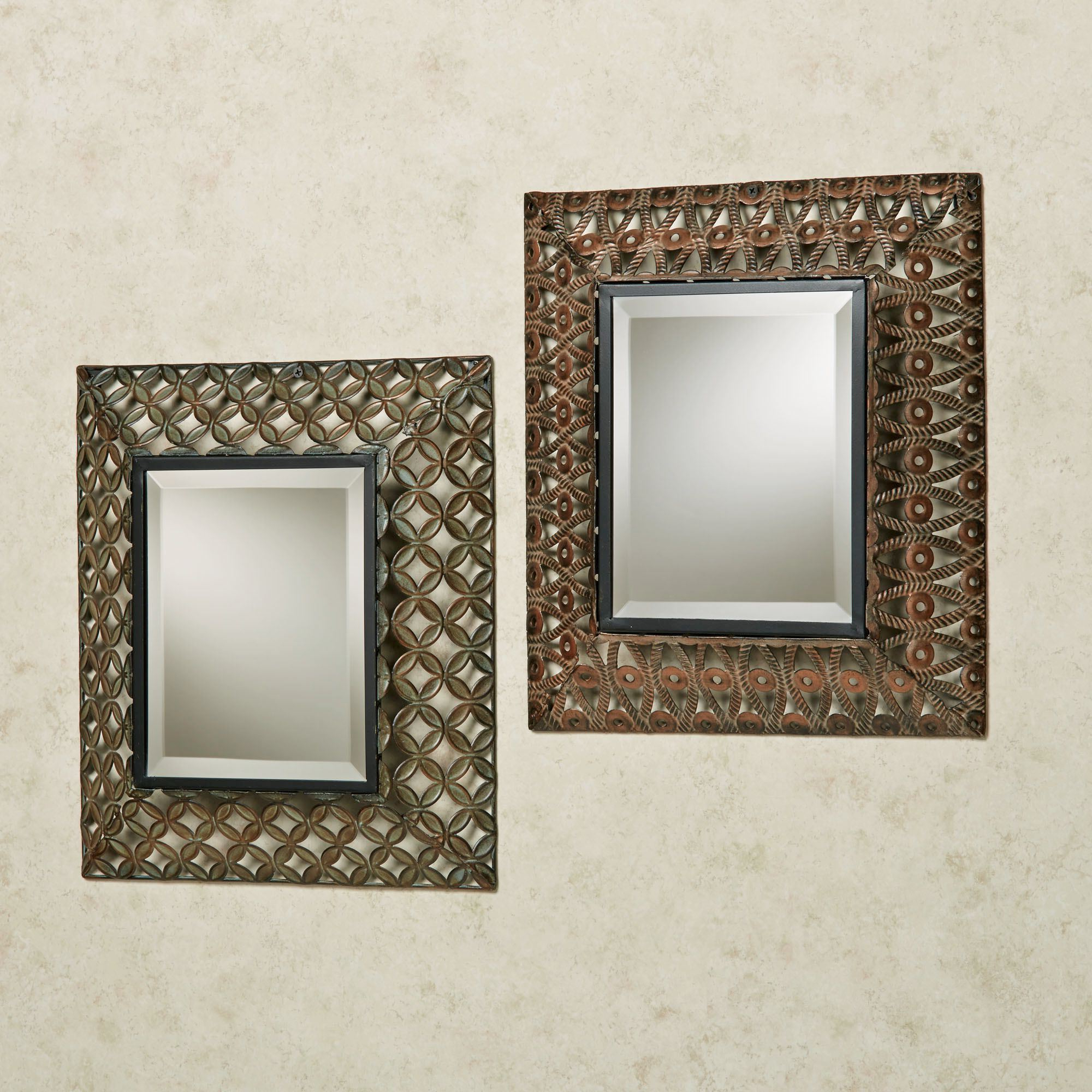 Newest Raghnall Cutwork Metal Accent Wall Mirror Set Throughout Metal Wall Mirrors (View 12 of 20)
