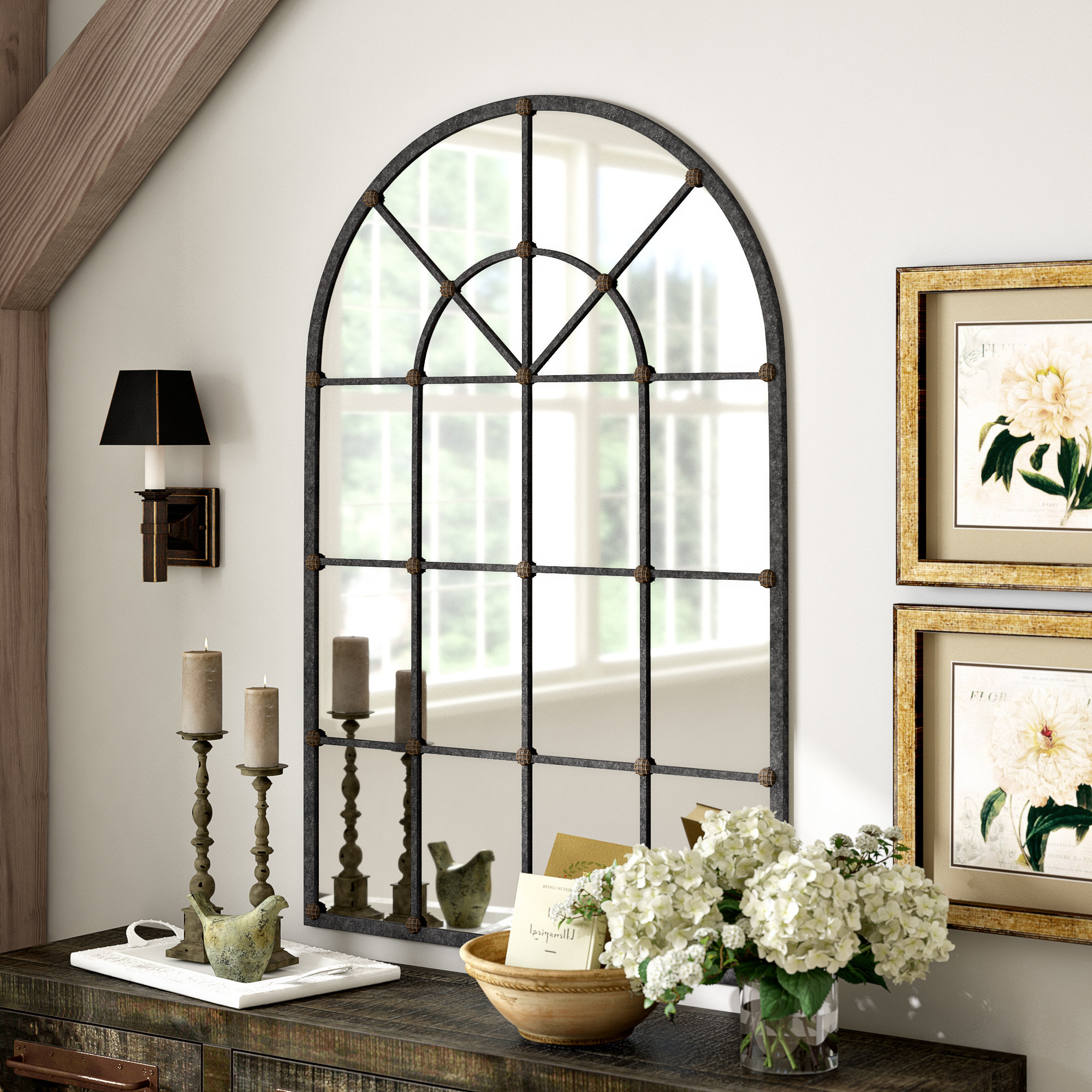 Newest Romain Accent Mirror With Grid Accent Mirrors (Gallery 7 of 20)