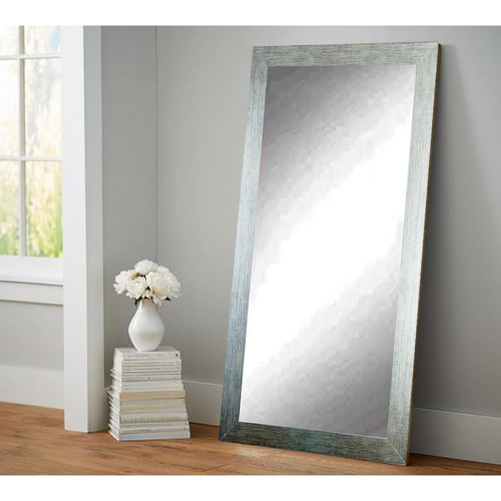 Newest Silver Shade Tall Floor Wall Mirror Throughout Floor Wall Mirrors (Gallery 1 of 20)