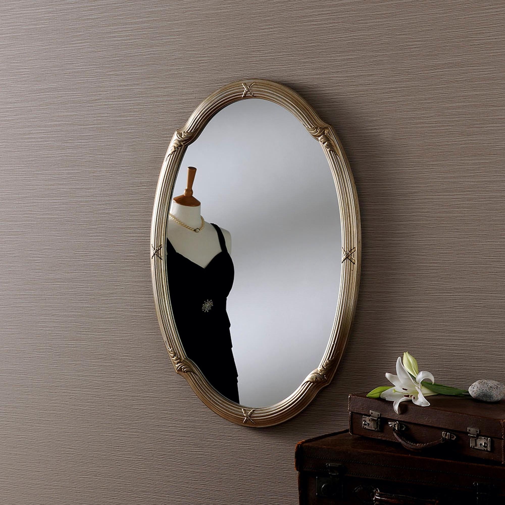 Newest Small Oval Contemporary Mirror Pertaining To Small Oval Wall Mirrors (View 16 of 20)