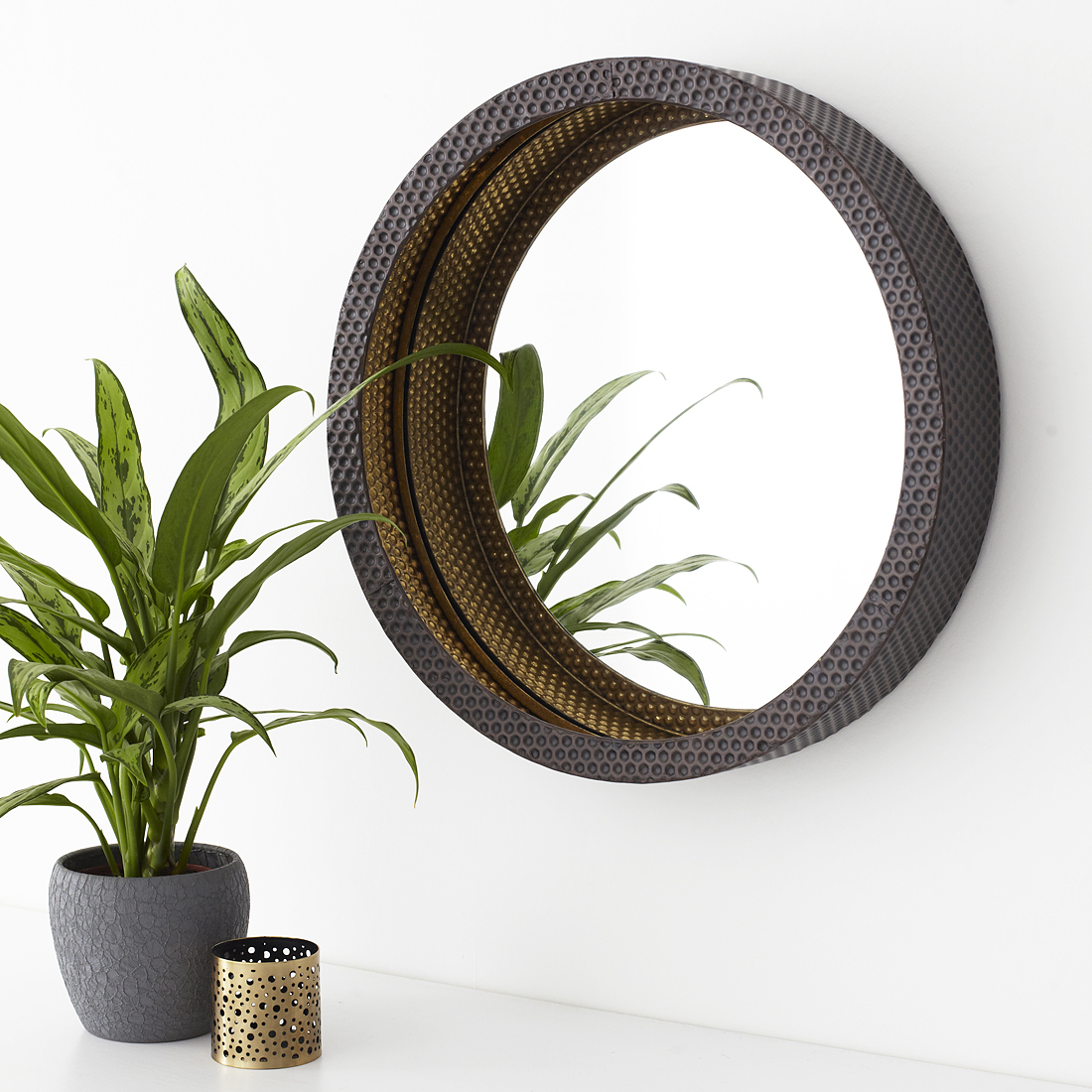 Newest Small Round Bronze Wall Mirror Inside Small Round Wall Mirrors (View 3 of 20)