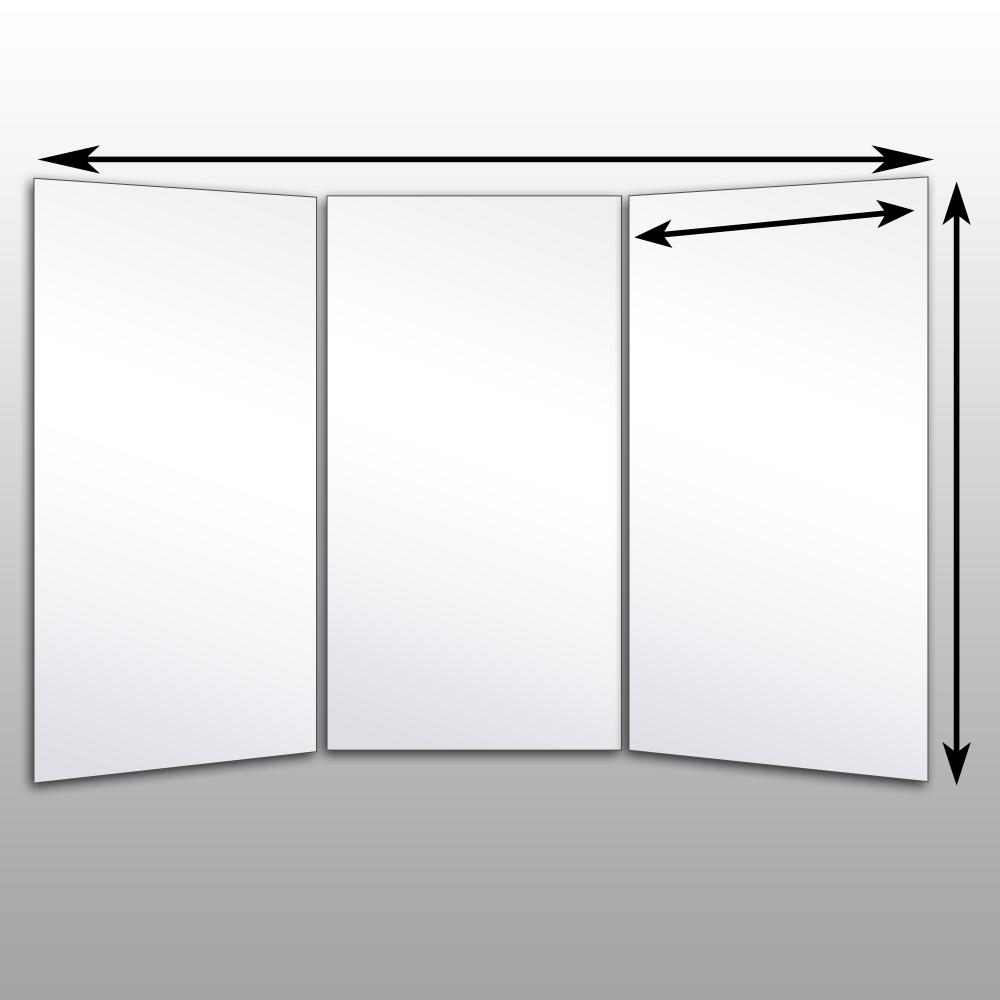 Newest Tri Fold Bathroom Wall Mirrors Inside Tri Fold Mirror Wall Mount • Bathroom Mirrors And Wall Mirrors (View 8 of 20)