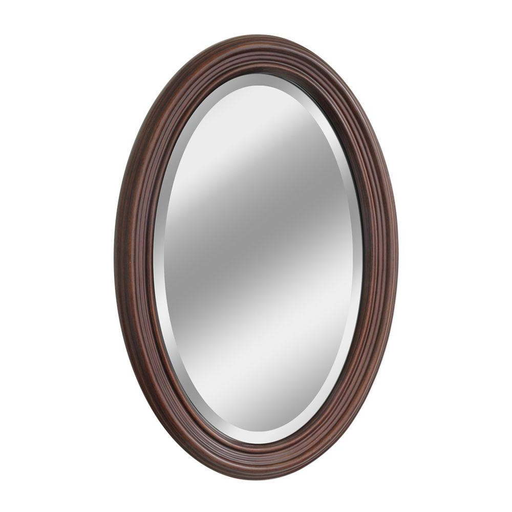 Newest Upc 740302010443 – Deco Mirror Mirrors 31 In. X 21 In. Classic Oval Within Oval Wood Wall Mirrors (Gallery 14 of 20)