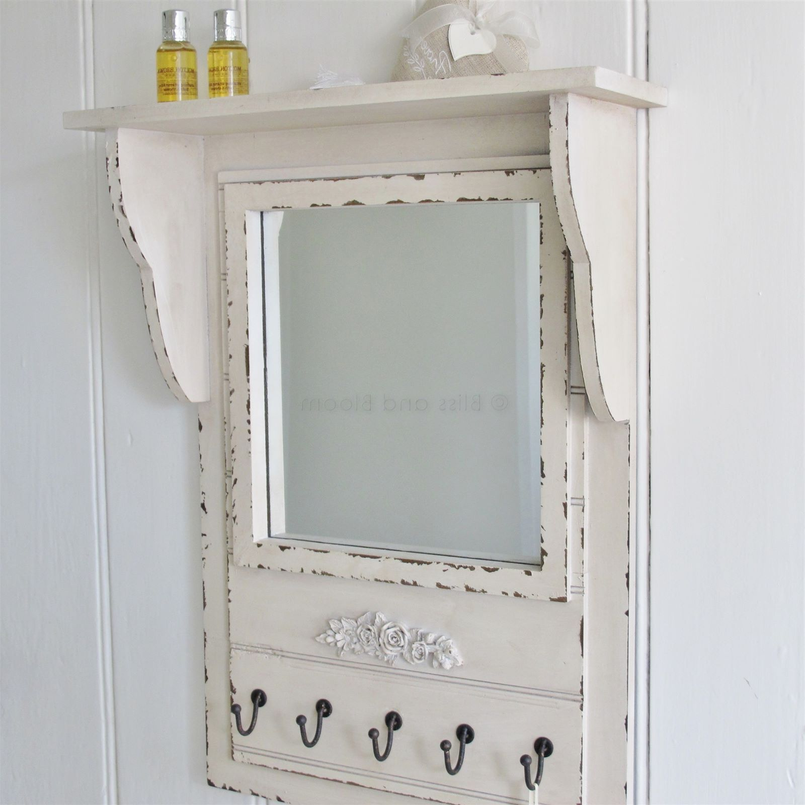 Newest Wall Mirrors With Hooks Intended For Wall Mirror Shelf Hooks (View 10 of 20)