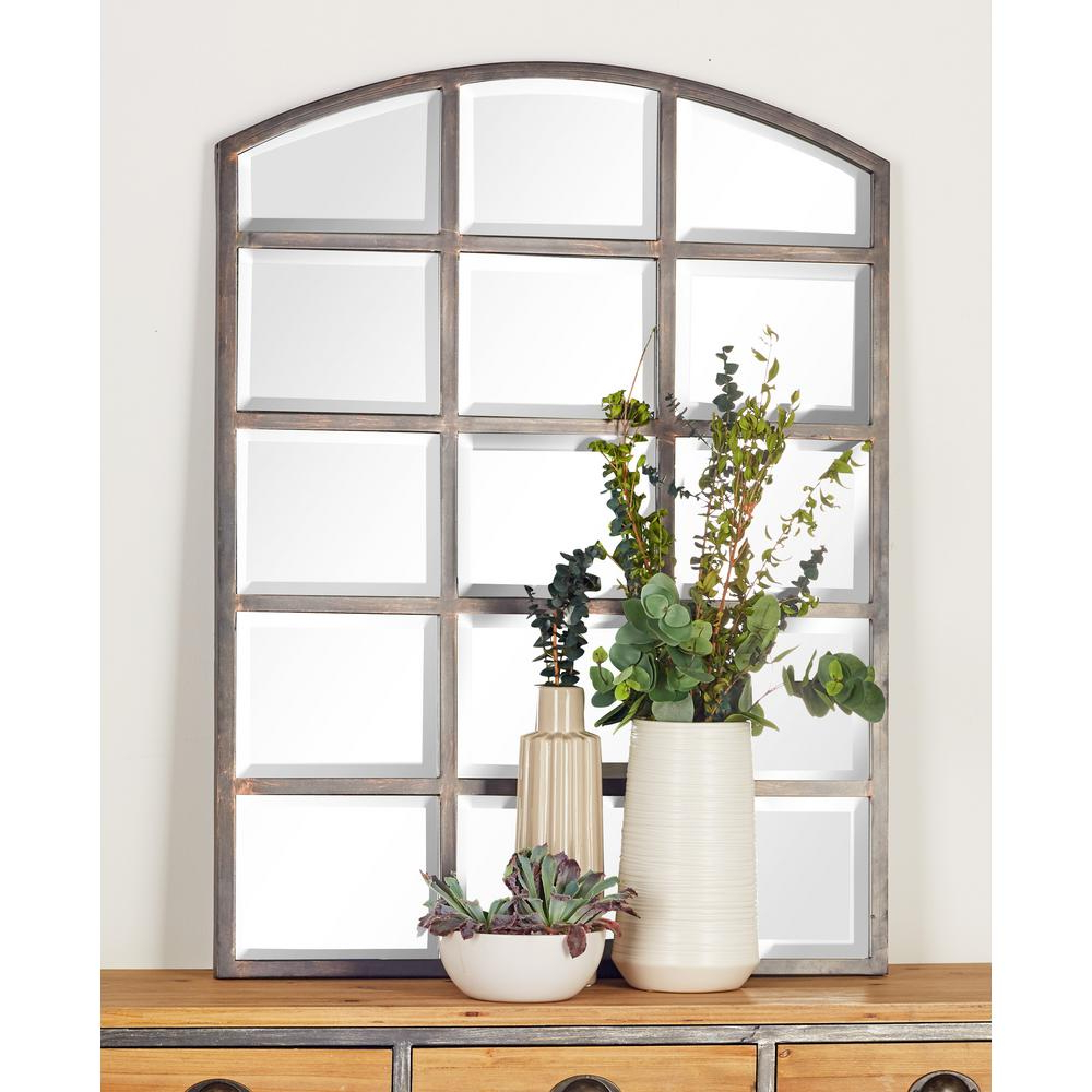 Newest Window Wall Mirrors Intended For Litton Lane 40 In. X 30 In. Arched Window Pane Inspired (Gallery 8 of 20)