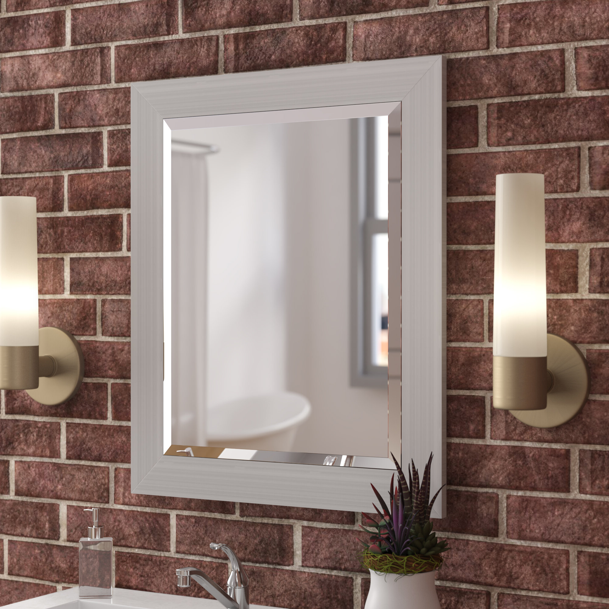 Newest Wood Frame Bathroom Wall Mirror In Frames For Bathroom Wall Mirrors (View 9 of 20)