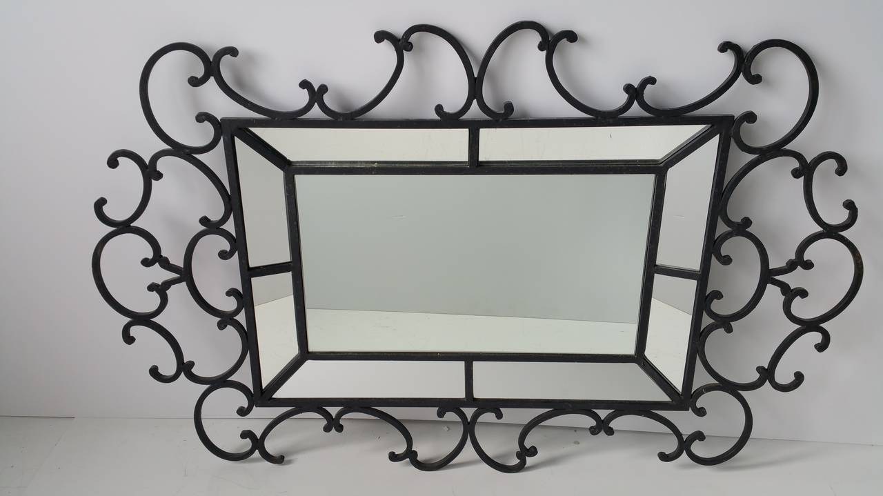 Newest Wrought Iron Wall Mirrors Inside Decorative Oversized Wrought Iron Mirror,, Whimsical Fantasy Design (View 5 of 20)