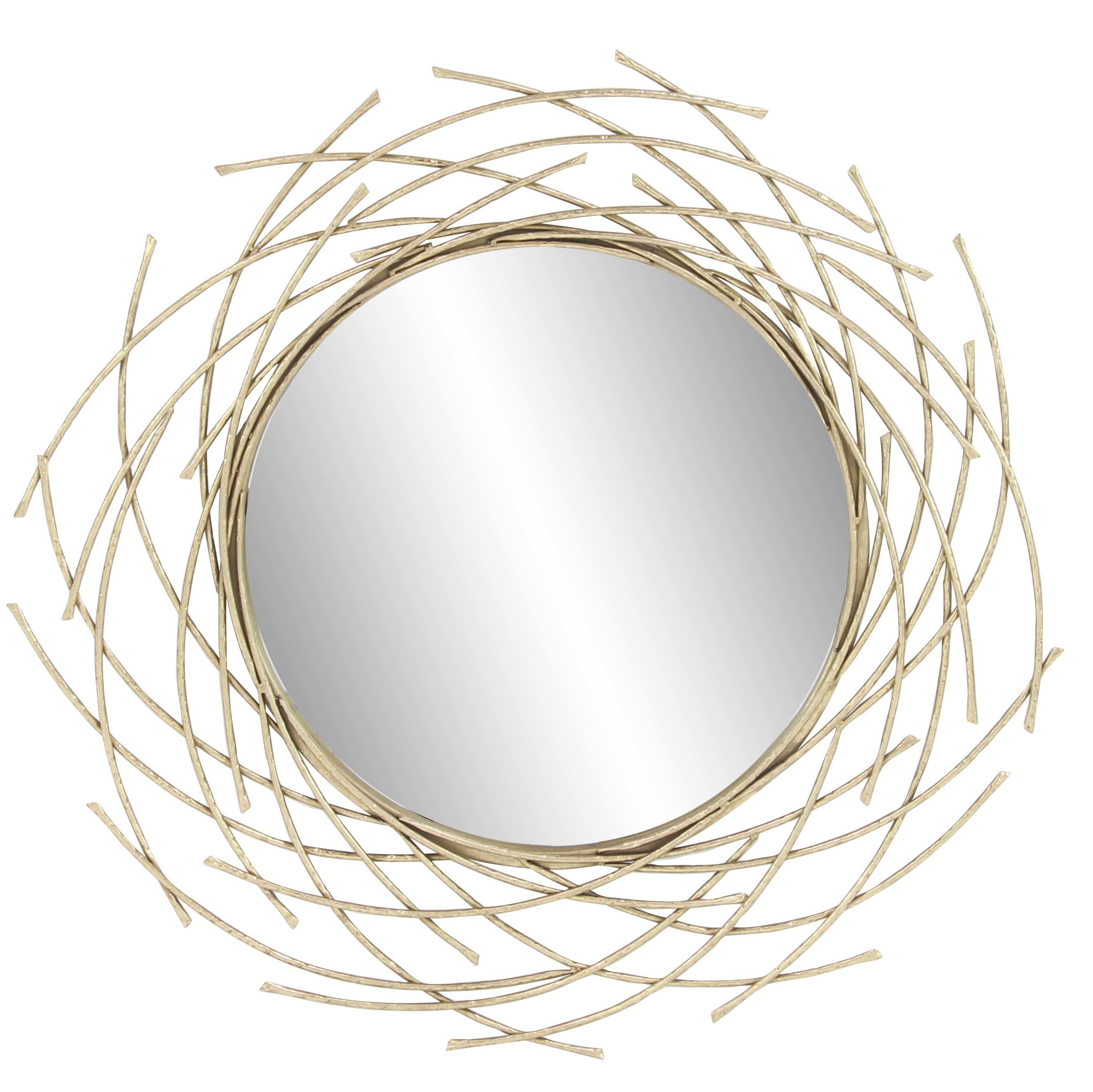 Newtown Accent Mirrors Pertaining To 2020 Modern Overlapping Arc Accent Mirror (View 15 of 20)