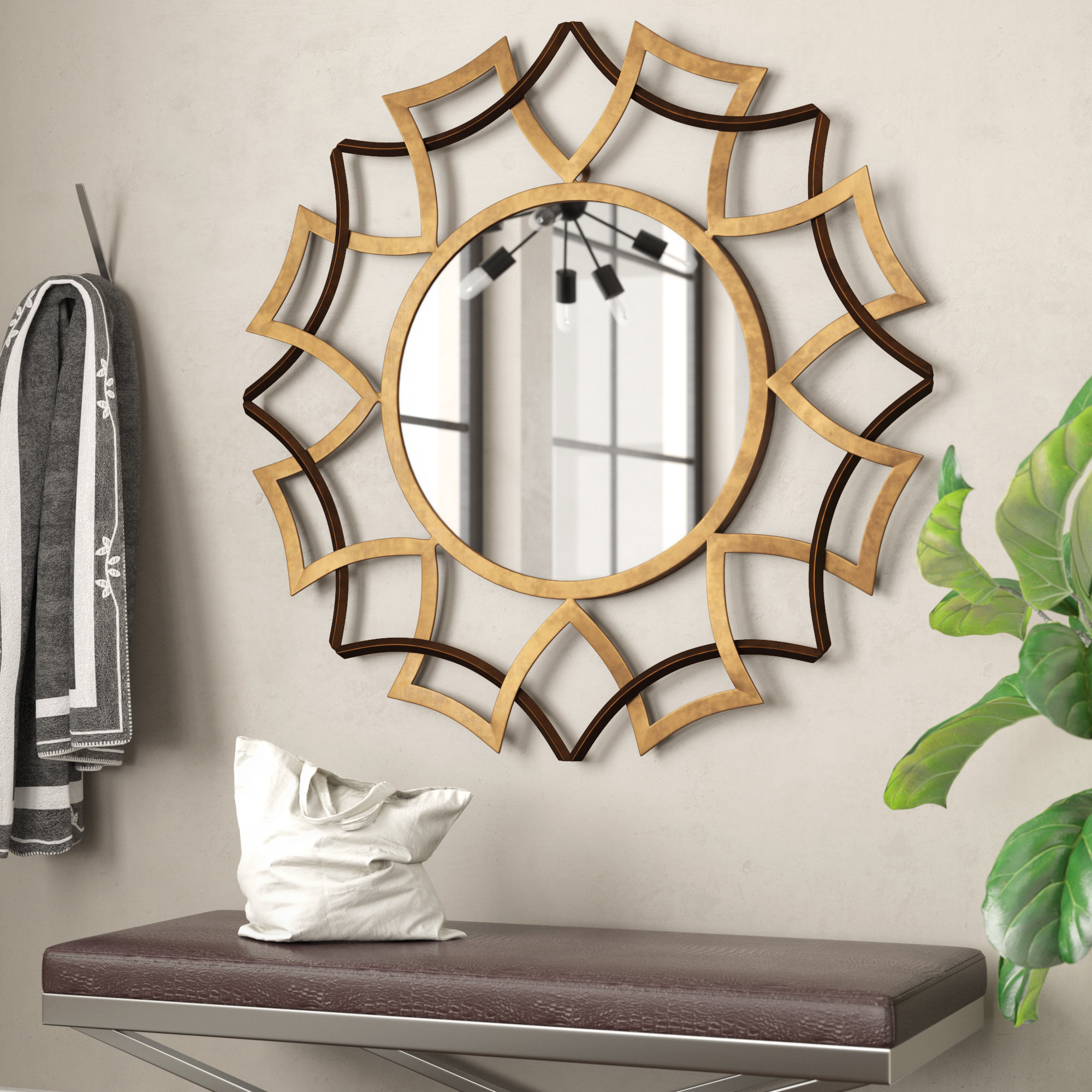 Newtown Wall Mirror In Preferred Brylee Traditional Sunburst Mirrors (View 12 of 20)