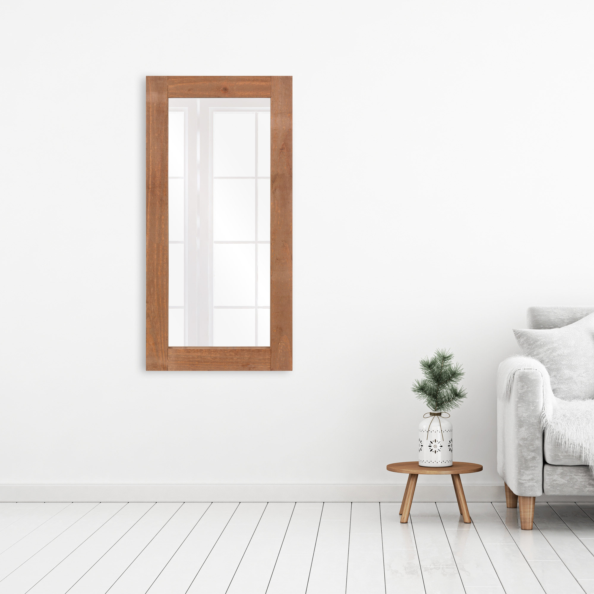 Nicolas Modern Shaker Distressed Wood Full Length Mirror With Most Current Mission Style Wall Mirrors (Gallery 9 of 20)