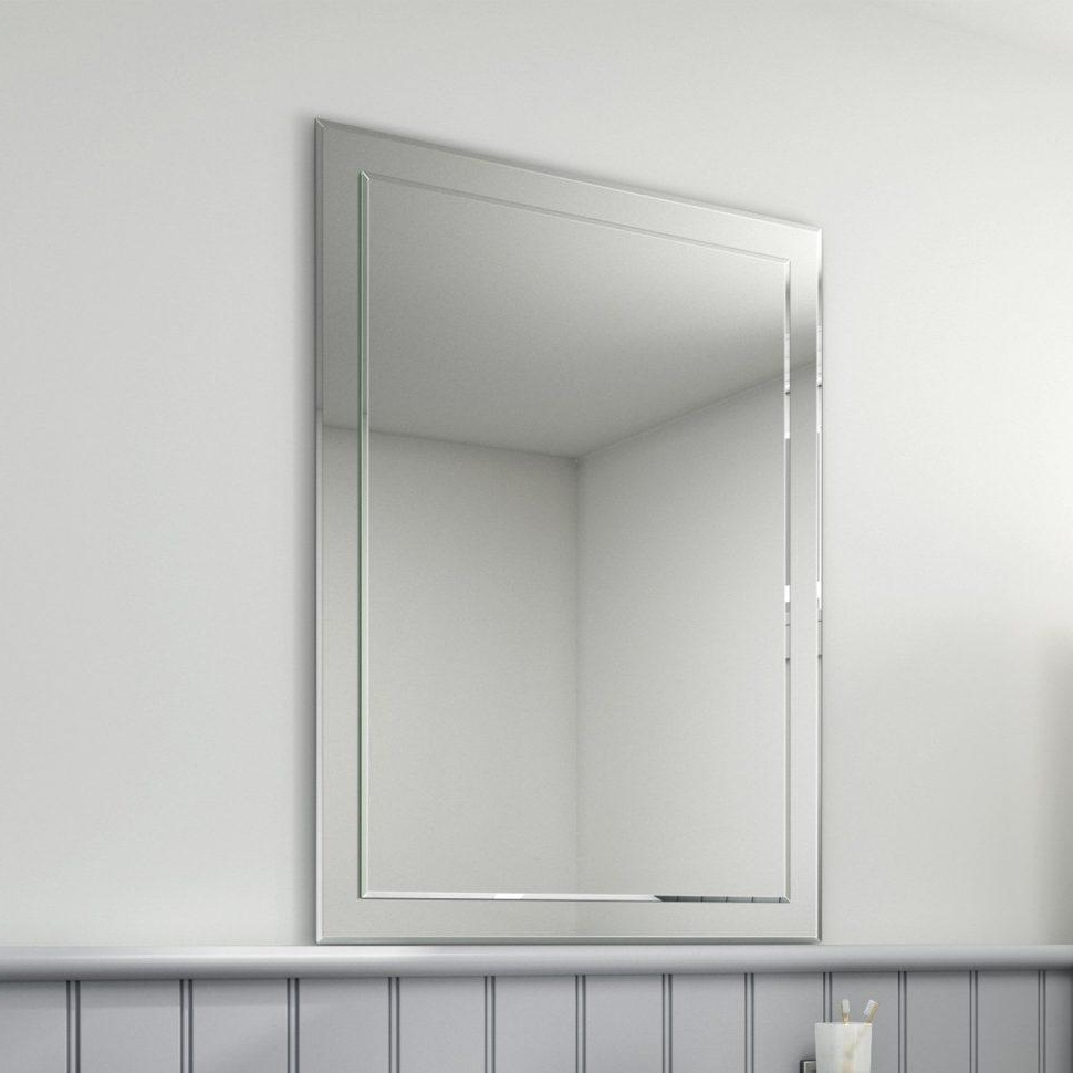 No Frame Wall Mirrors Regarding Recent Ideas Of No Frame Wall Mirrors Mirror Old Window Pinterest (Gallery 10 of 20)