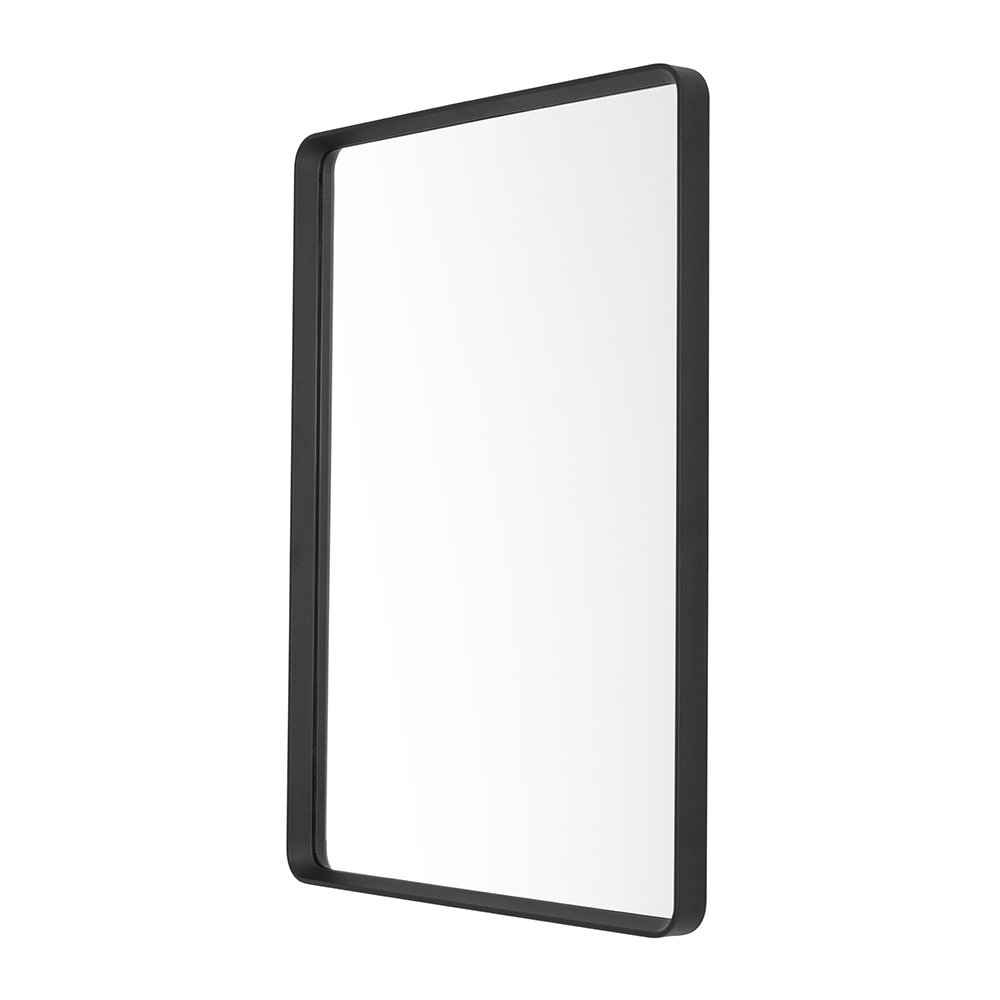 Norm Rectangle Wall Mirror – Black With Regard To Recent Black Rectangle Wall Mirrors (Gallery 11 of 20)