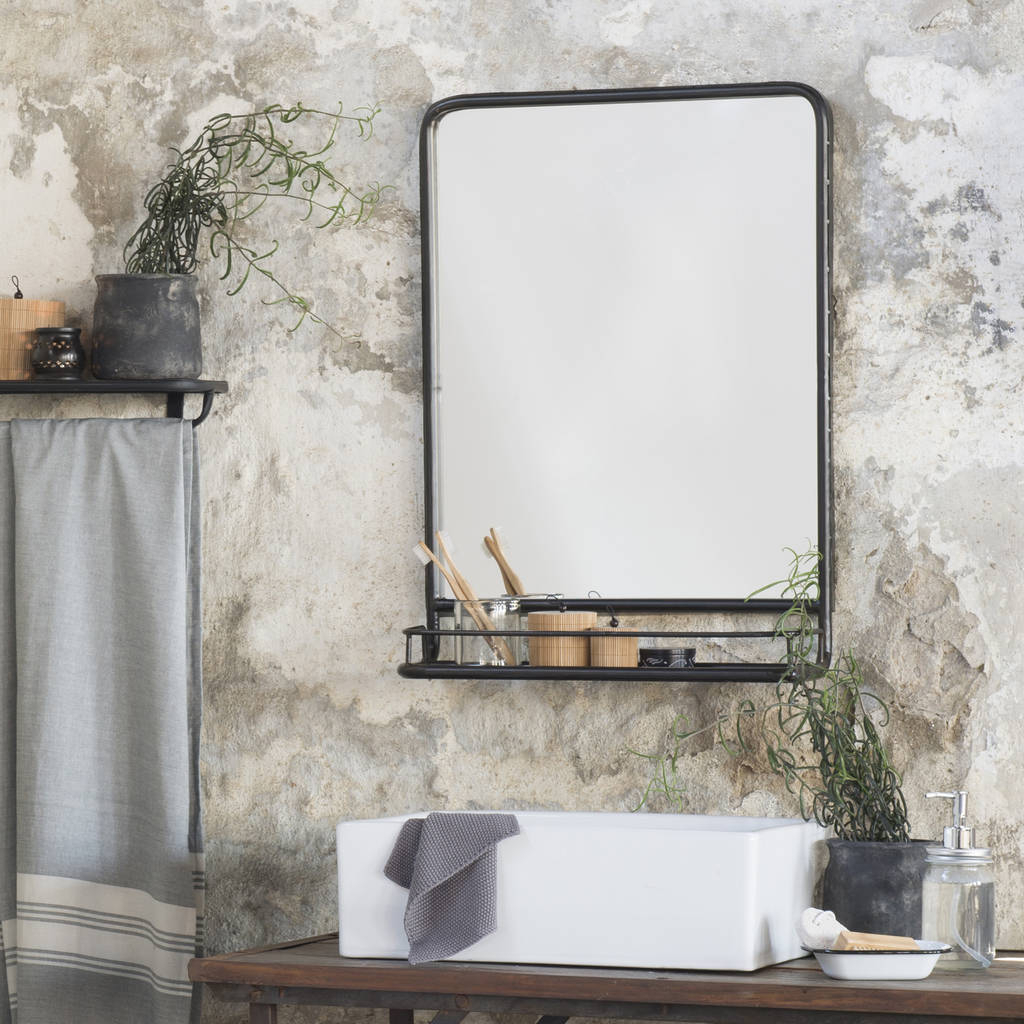 Notonthehighstreet For Wall Mirrors With Shelf And Hooks (View 9 of 20)