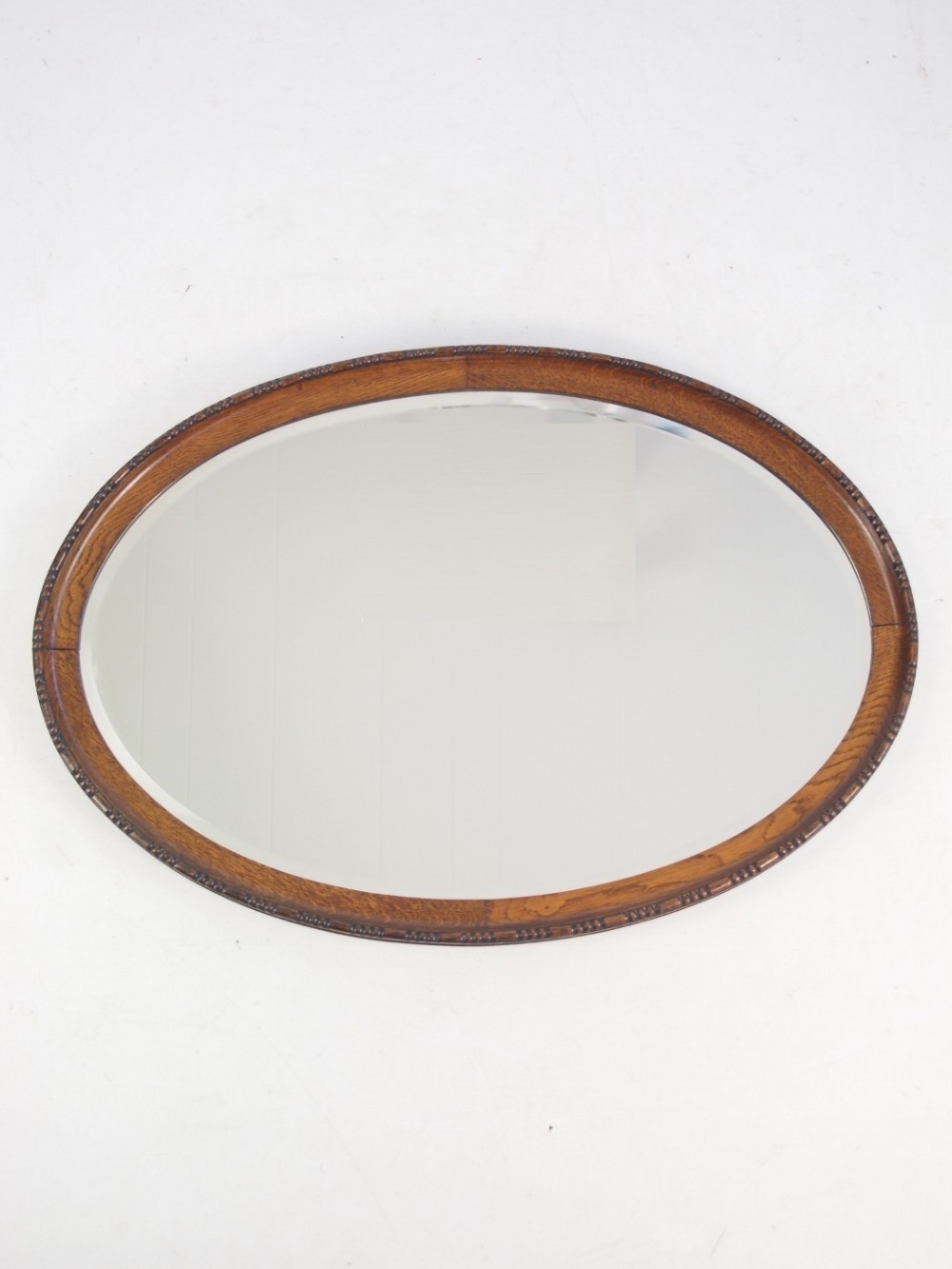 Oak Framed Wall Mirrors For Famous Oval Oak Framed Wall Mirror Or Overmantle (View 13 of 20)