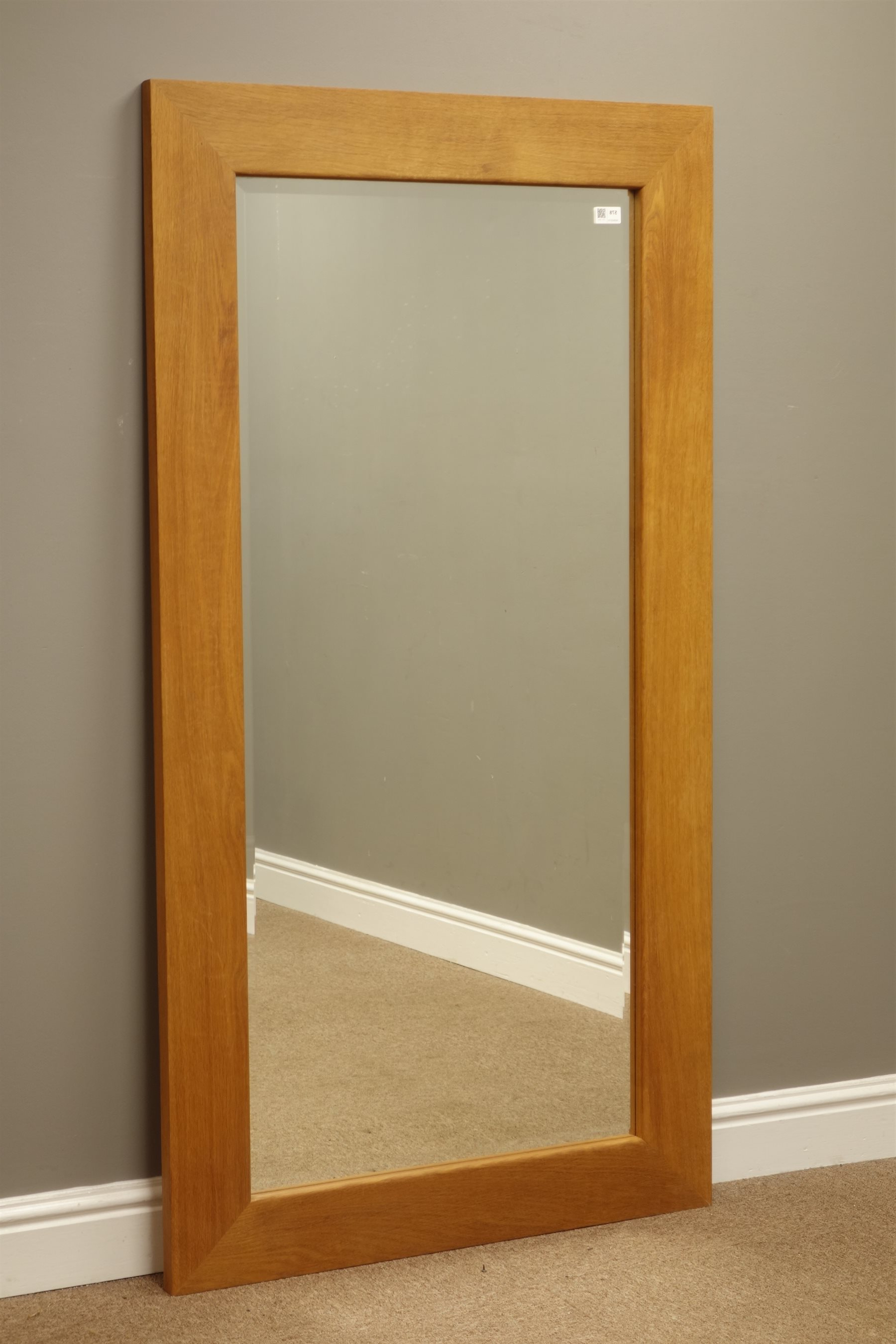 Oak Framed Wall Mirrors Throughout Trendy Solid Oak Framed Rectangular Wall Mirror With Bevelled Glass (View 4 of 20)