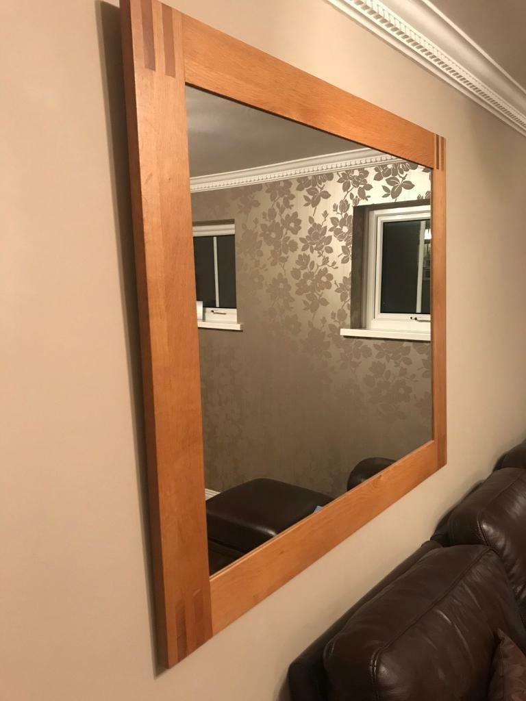 Oak Wall Mirrors In Newest Solid Oak Framed Wall Mirror (View 9 of 20)