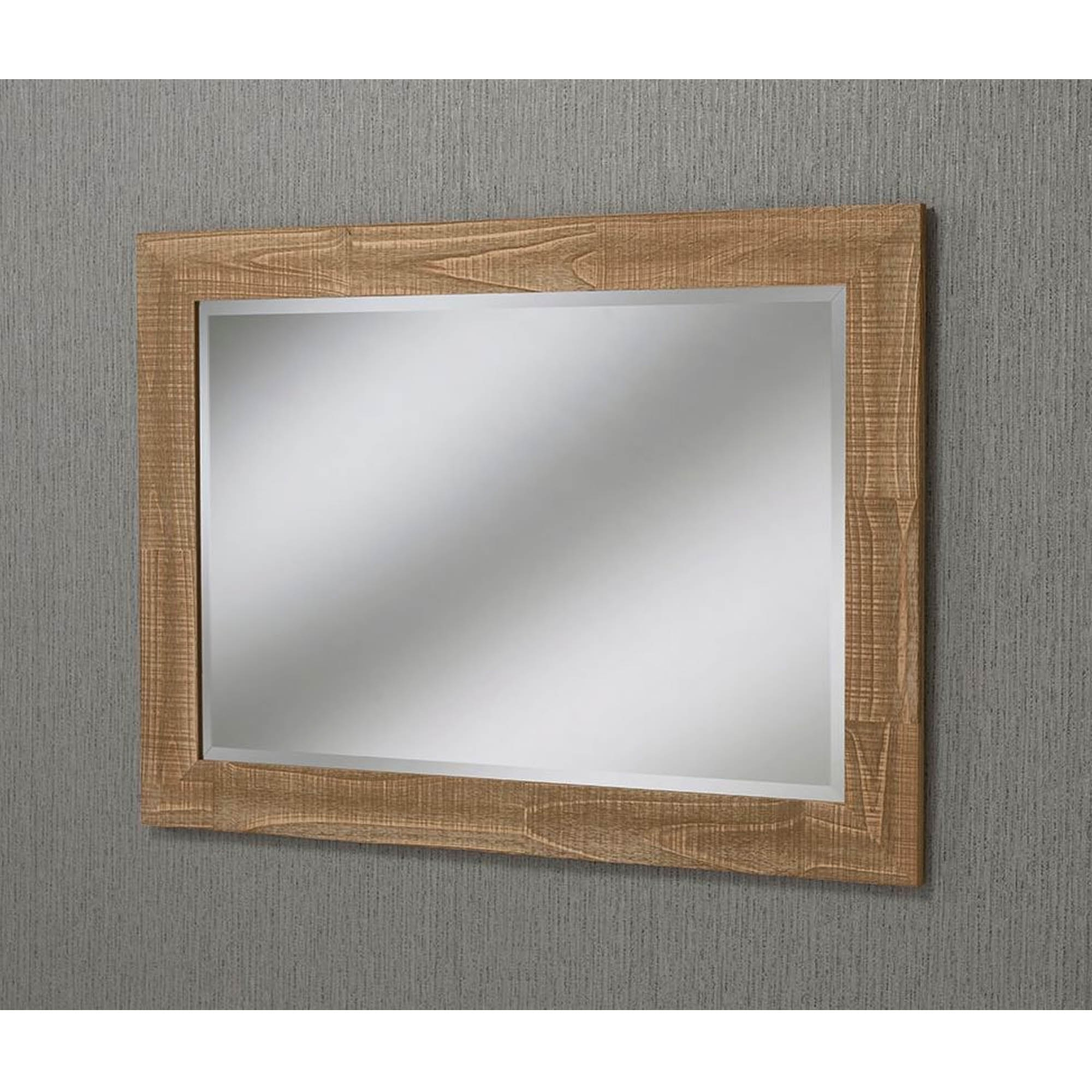 Oak Wall Mirrors With Recent Natural Oak Rectangular Wall Mirror (View 12 of 20)