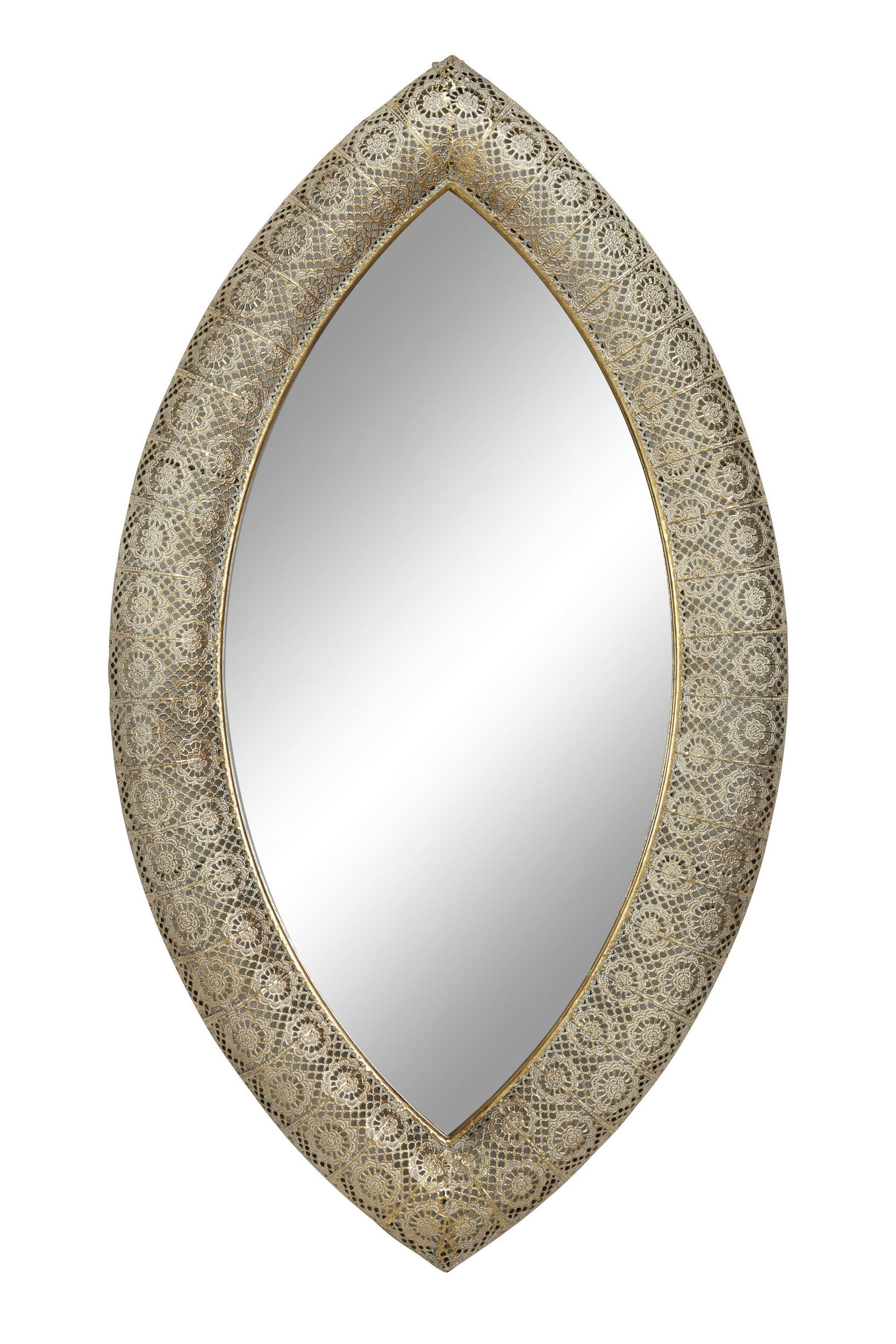 Oakman Metal Pierced Oval Accent Mirror For Most Current Oval Metallic Accent Mirrors (View 5 of 20)