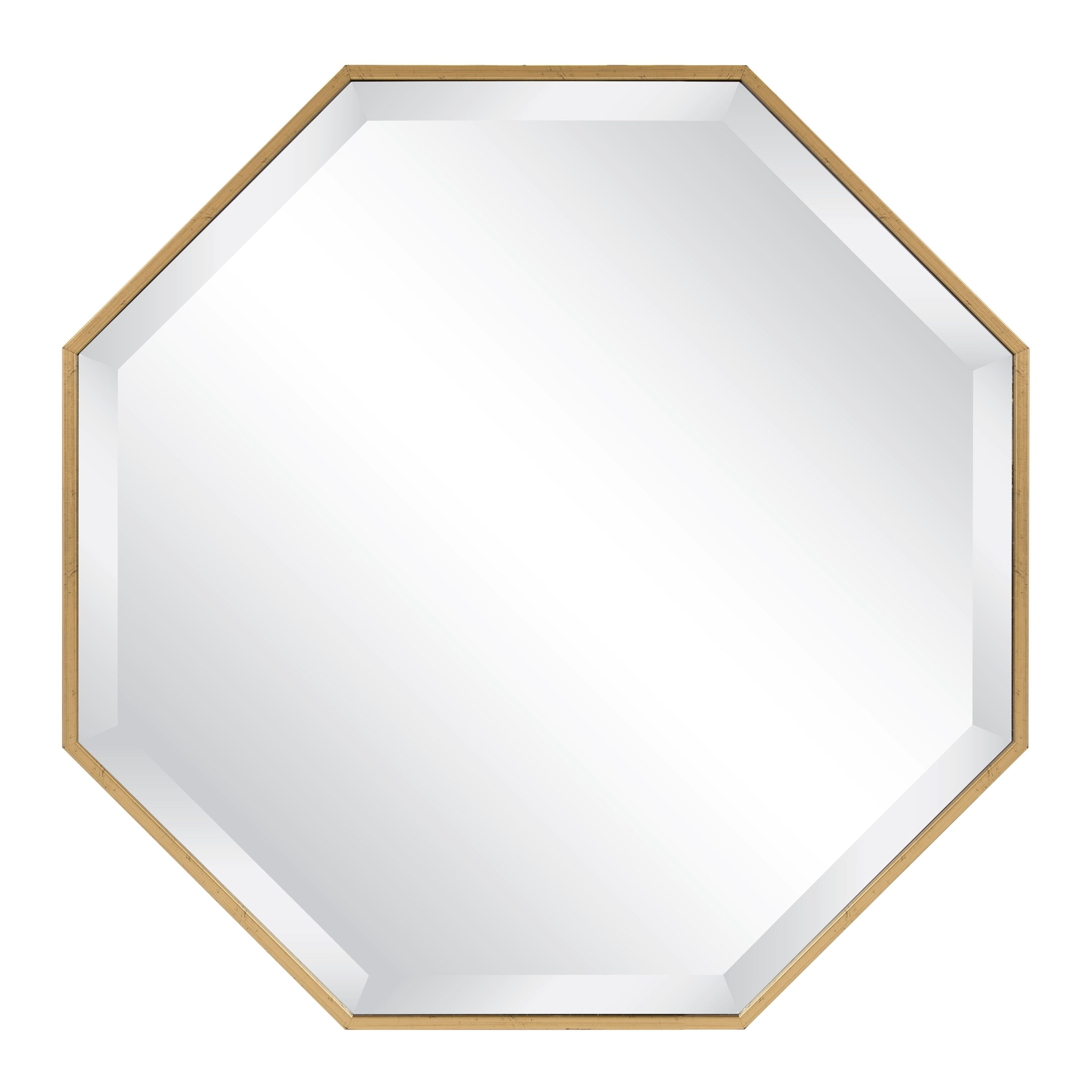 Octagon Wall Mirrors Pertaining To Widely Used Kate And Laurel Rhodes Modern Octagon Wall Mirror (24.75x (View 17 of 20)