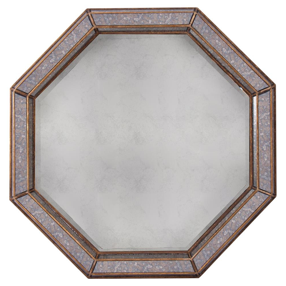 Octagon Wall Mirrors With Most Recently Released Abbott Regency Octagon Antique Brass Grey Wall Mirror (View 20 of 20)