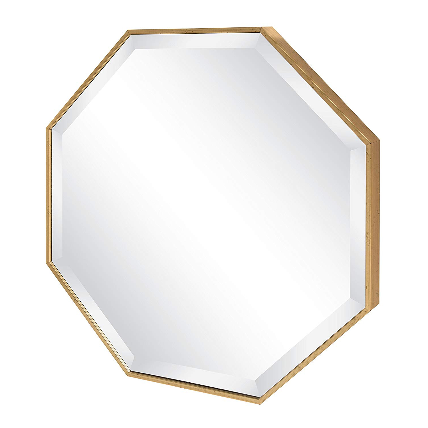 Octagon Wall Mirrors With Regard To Newest Kate And Laurel Rhodes Octagon Framed Wall Mirror, 24.75x (View 4 of 20)
