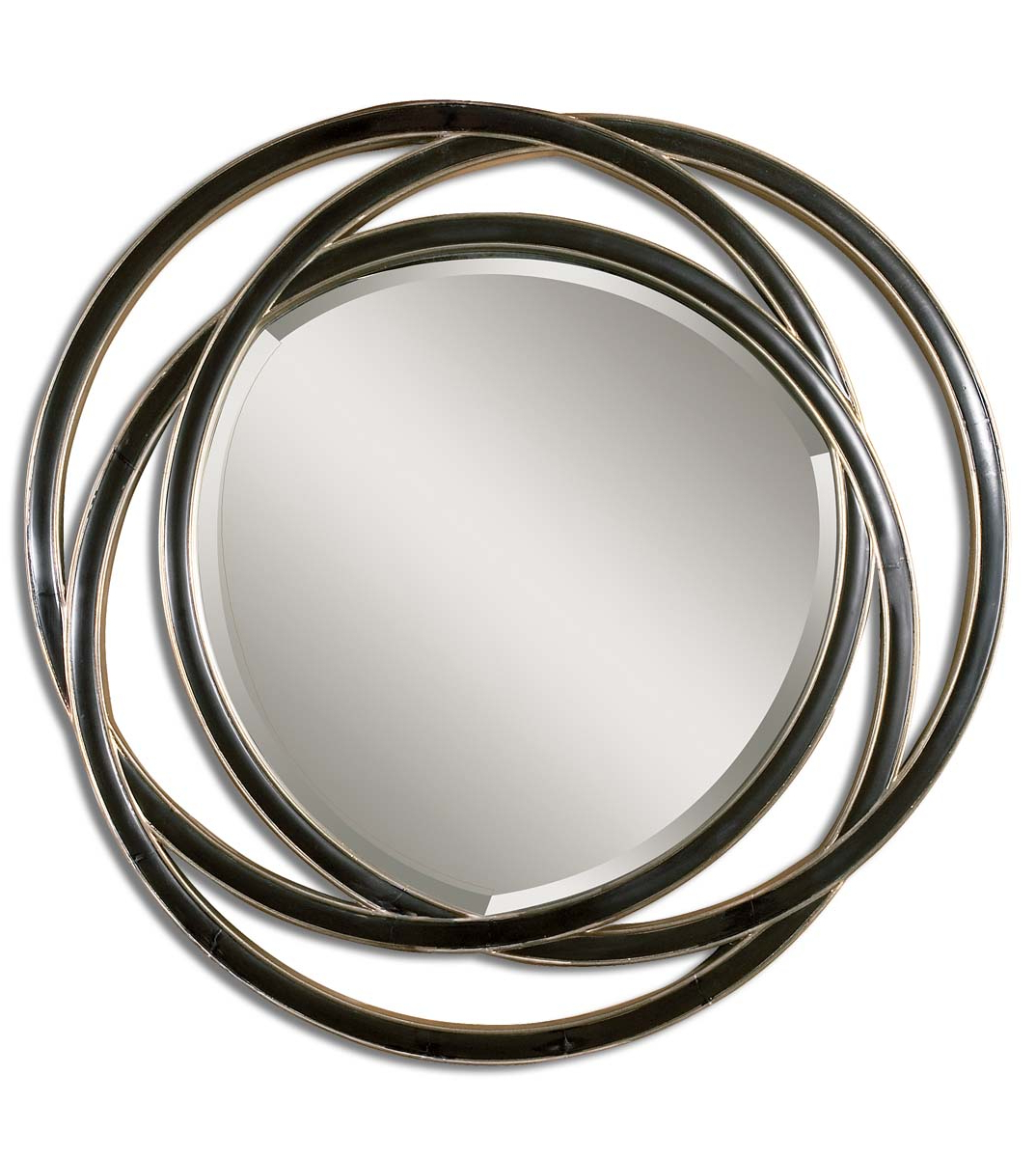 "Odalis Round Black Wall Mirroruttermost – 48"" X 48"" – Fine Home Intended For Most Popular Round Black Wall Mirrors (View 19 of 20)"