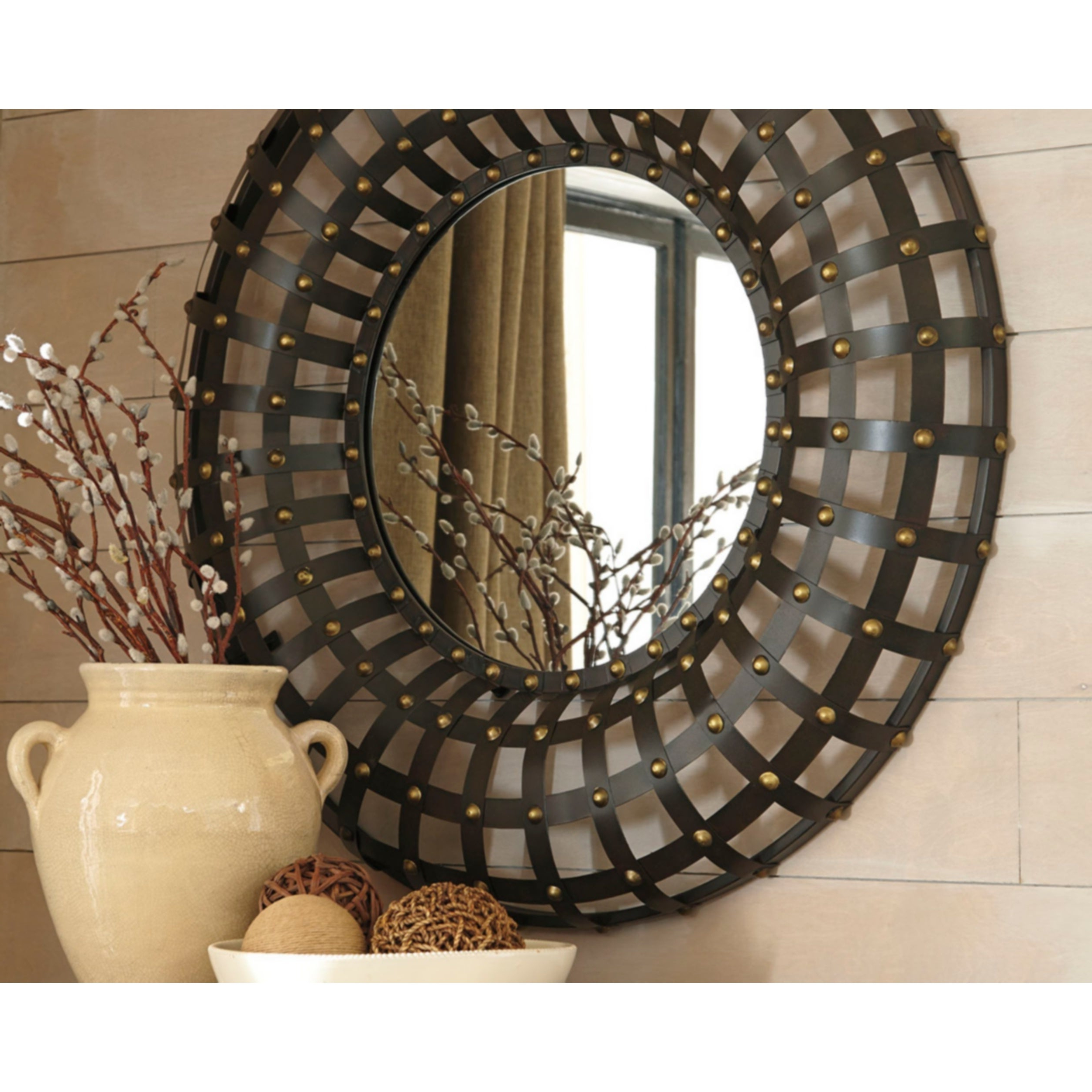Ogier Accent Mirror – Brown/gold Within Fashionable Ogier Accent Mirrors (View 4 of 20)
