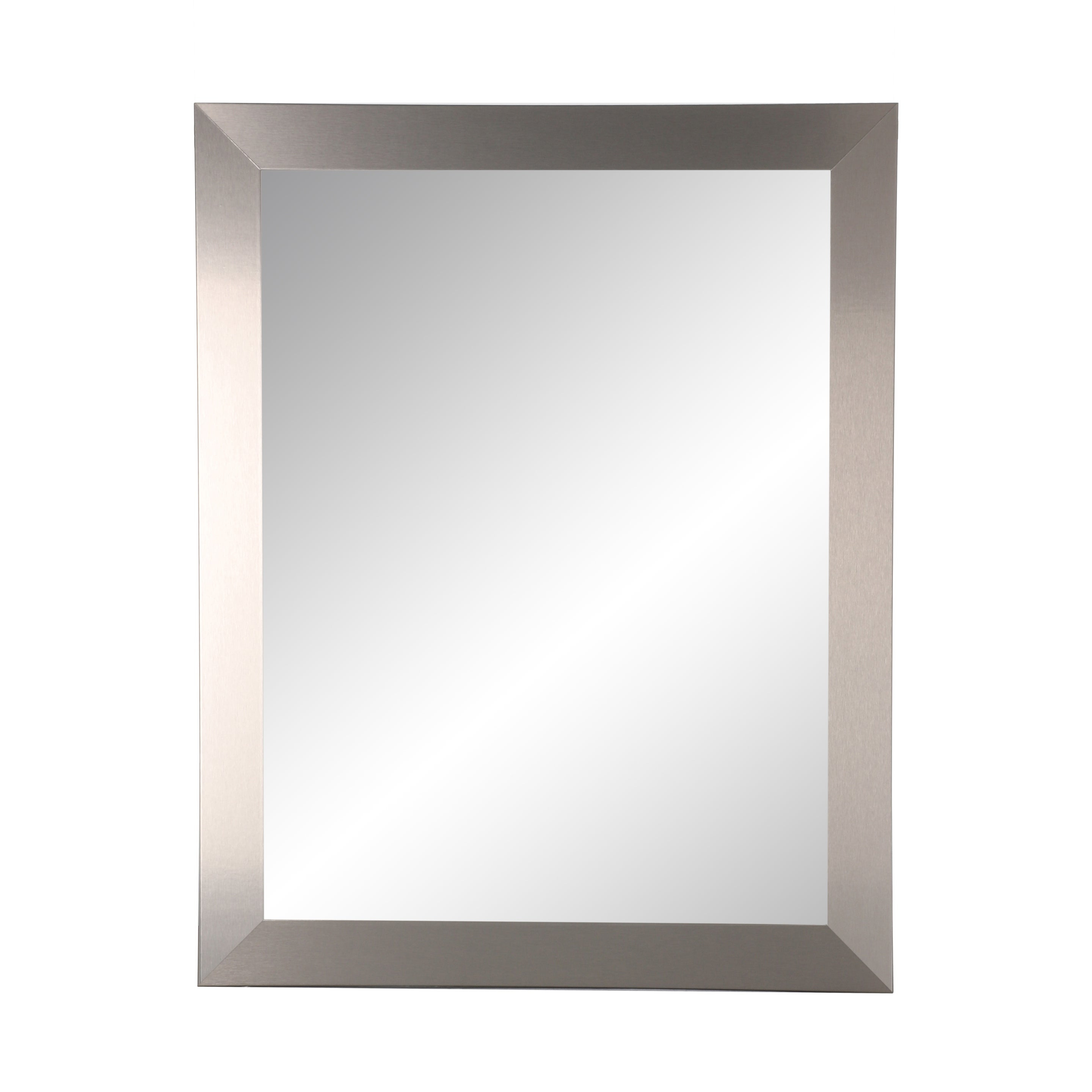 Ogier Accent Mirrors Pertaining To Favorite Brandtworks Industrial Modern Home Accent Wall Mirror 32'' X 38'' – Brushed – A/n (View 7 of 20)