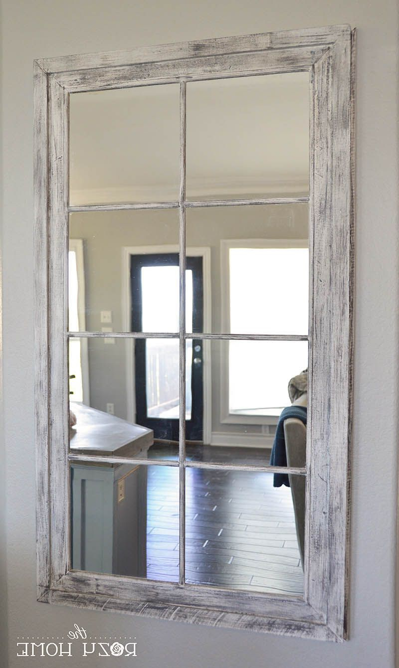 Old Window With Regard To Grid Accent Mirrors (View 11 of 20)