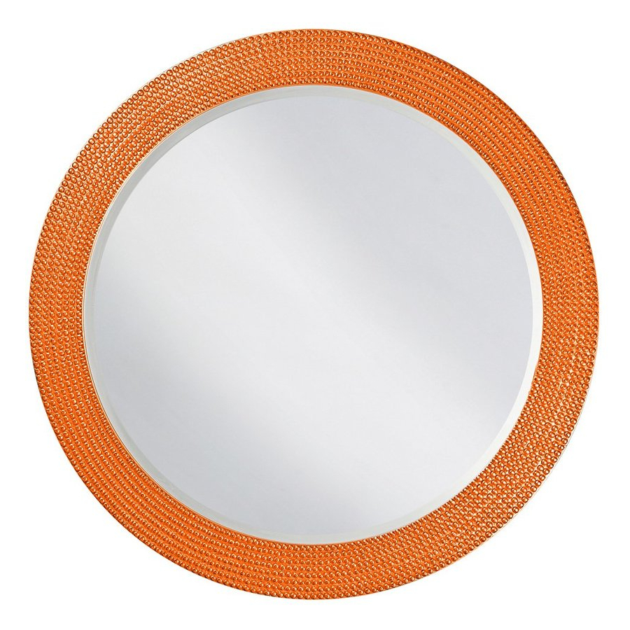 Orange Framed Wall Mirrors Intended For Famous Tyler Dillon Lancelot 42 In L X 42 In W Orange Framed Round Wall (View 1 of 20)