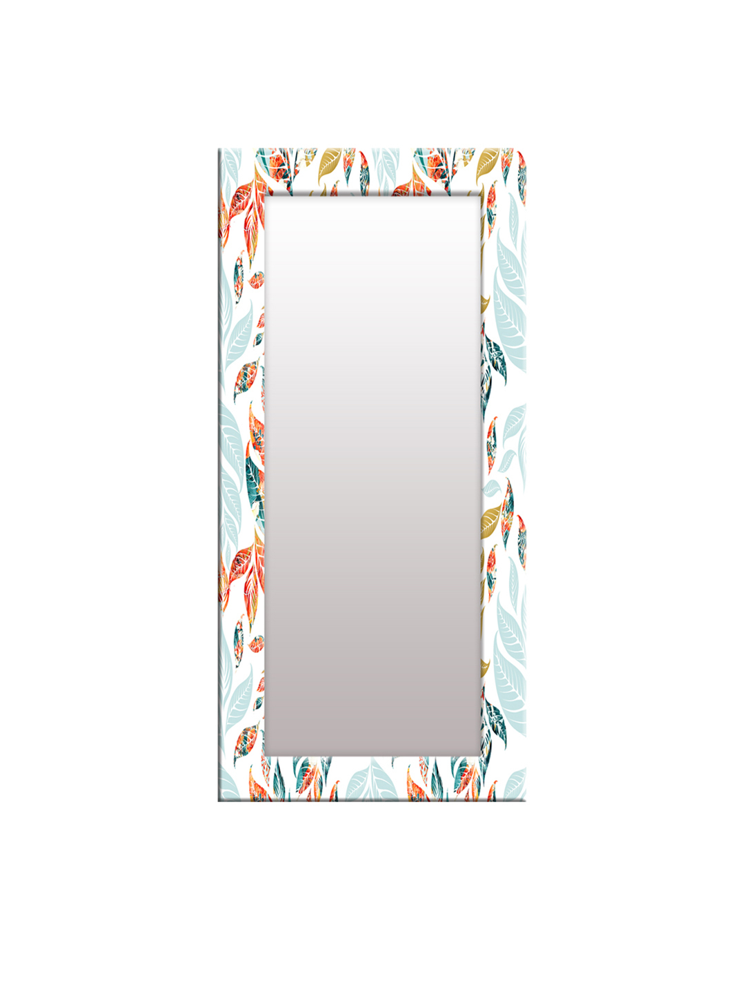 Orange Framed Wall Mirrors Throughout Current Buy 999store White & Orange Framed Wall Mirror – Mirrors For Unisex (View 13 of 20)