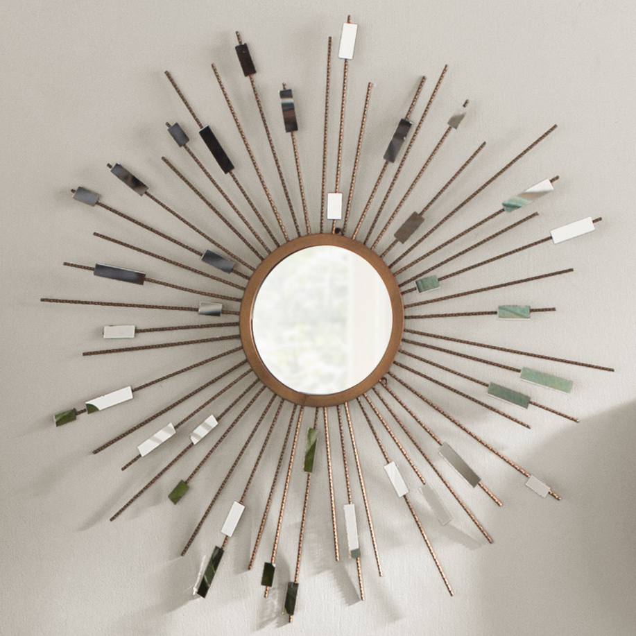 Orion Starburst Wall Mirror For 2020 Diamondville Modern & Contemporary Distressed Accent Mirrors (View 13 of 20)