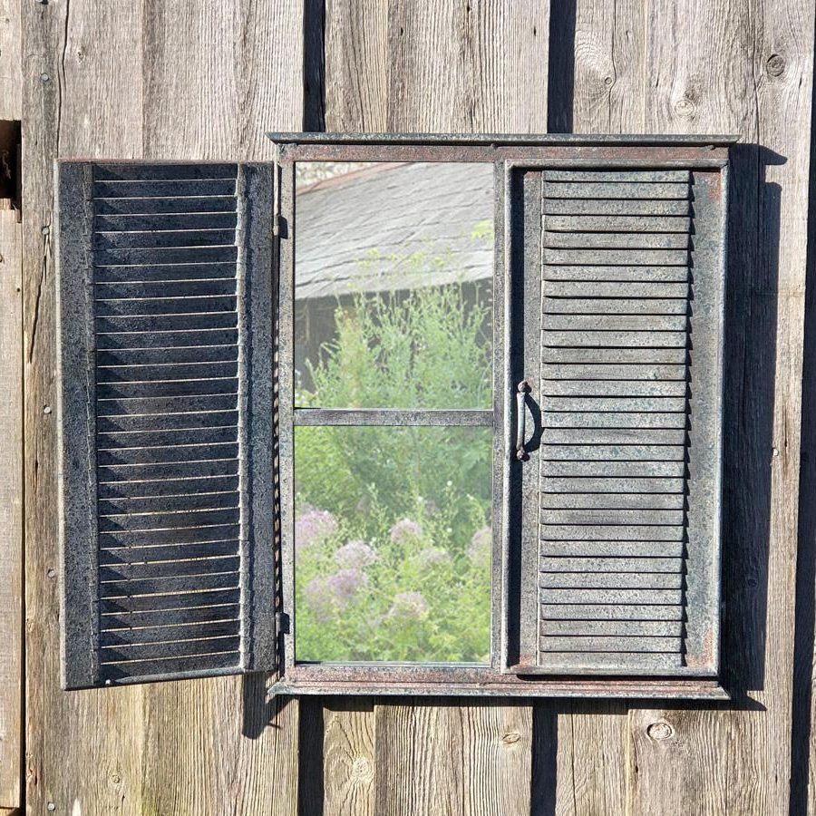 Outdoor Garden Shutter Mirror In (View 11 of 20)