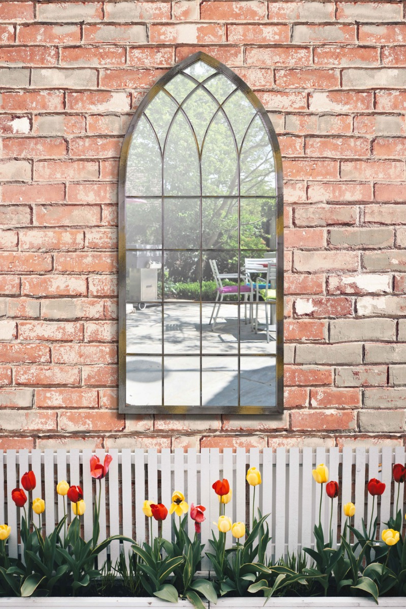 Outdoor Garden Wall Mirrors Intended For Well Liked Details About Home & Garden Outdoor Gothic Design Arched Wall Mirror Rustic Colour 3ft9 X (View 9 of 20)