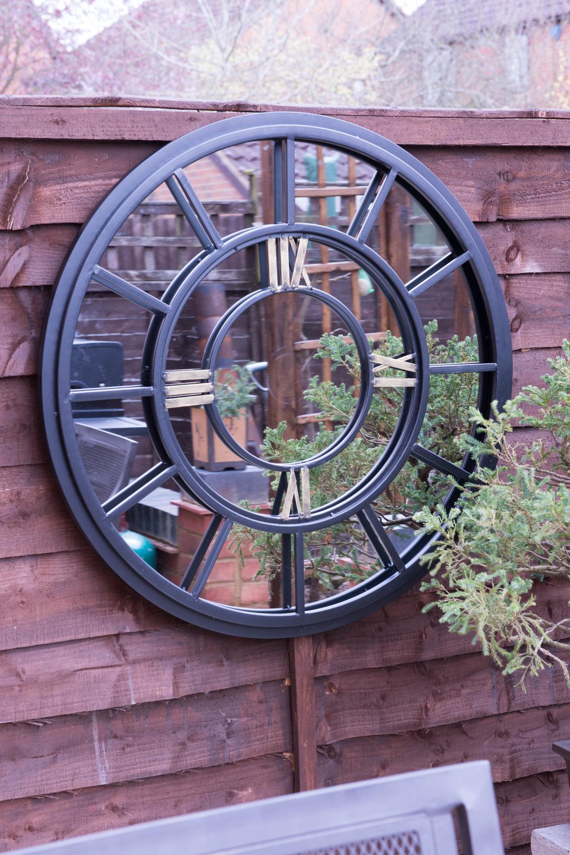 Outdoor Garden Wall Mirrors Pertaining To Most Current Watchet Black Victorian Indoor Outdoor Garden Wall Mirror 78x78 Cm (View 5 of 20)