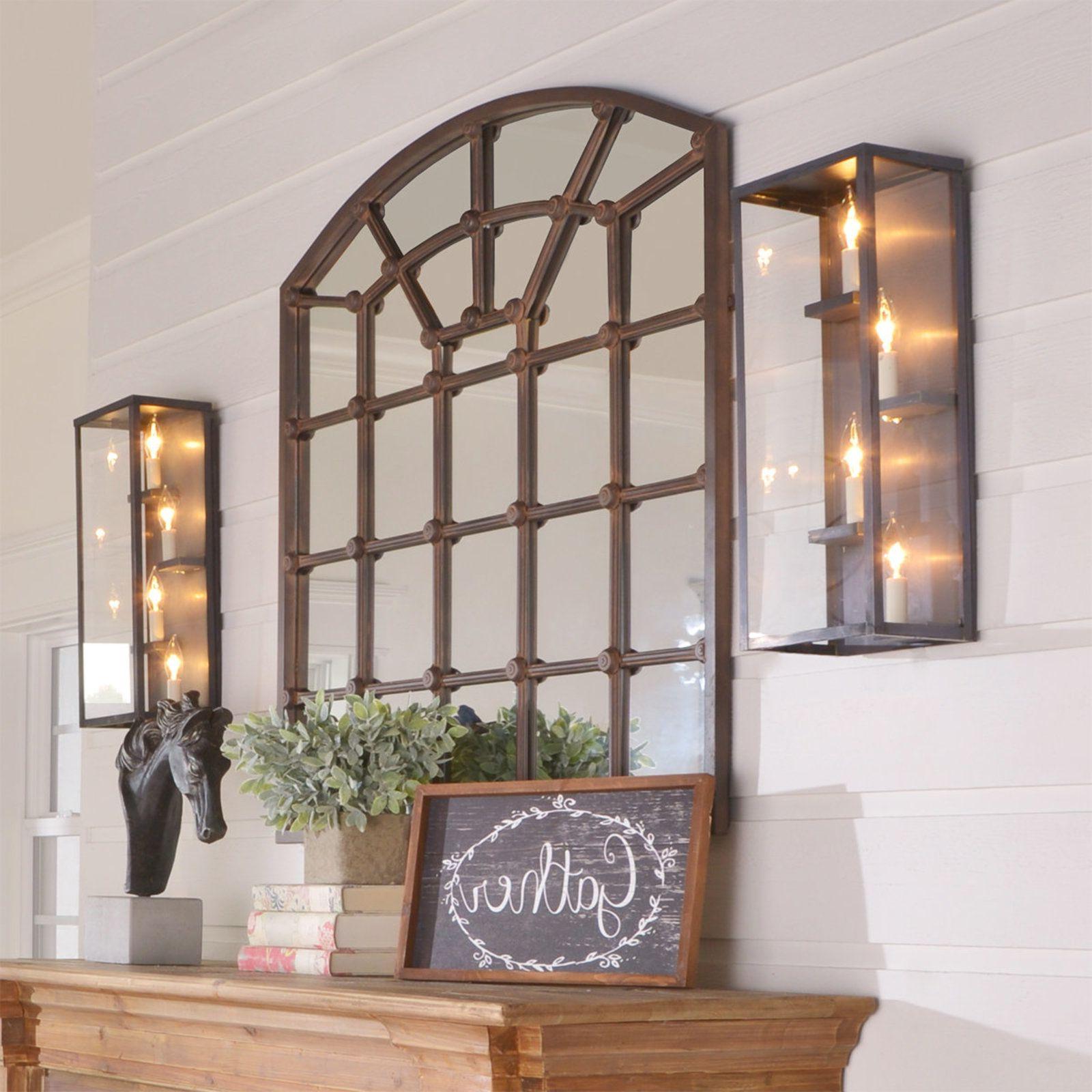Outdoor Lighting, Mirror, Floor Decor (Gallery 10 of 20)