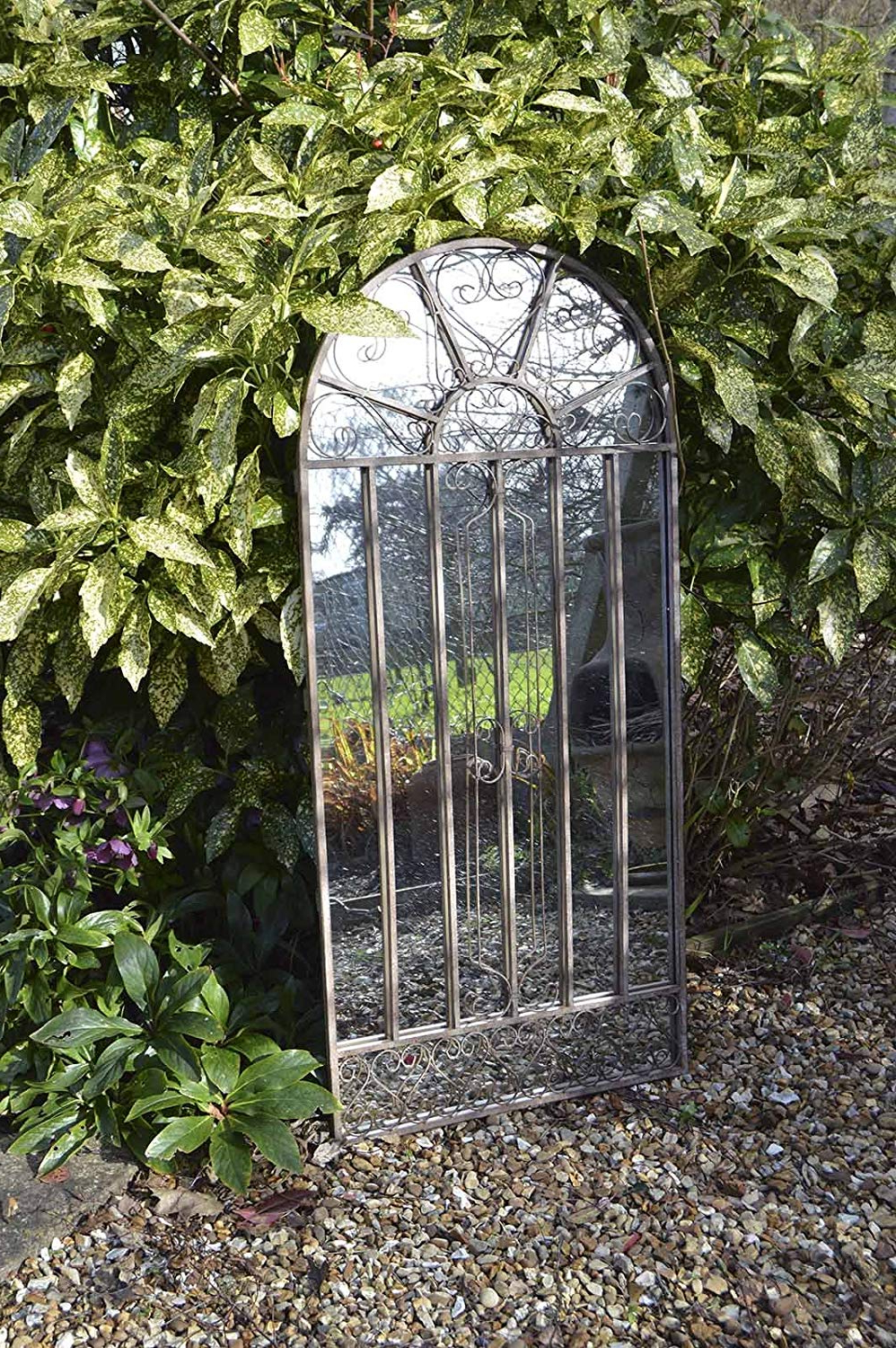 Outdoor Wall Mirrors With Regard To Popular Scroll Frost Proof Garden Outdoor Wall Mirror 4ft3 X 2ft (130cm X (View 10 of 20)