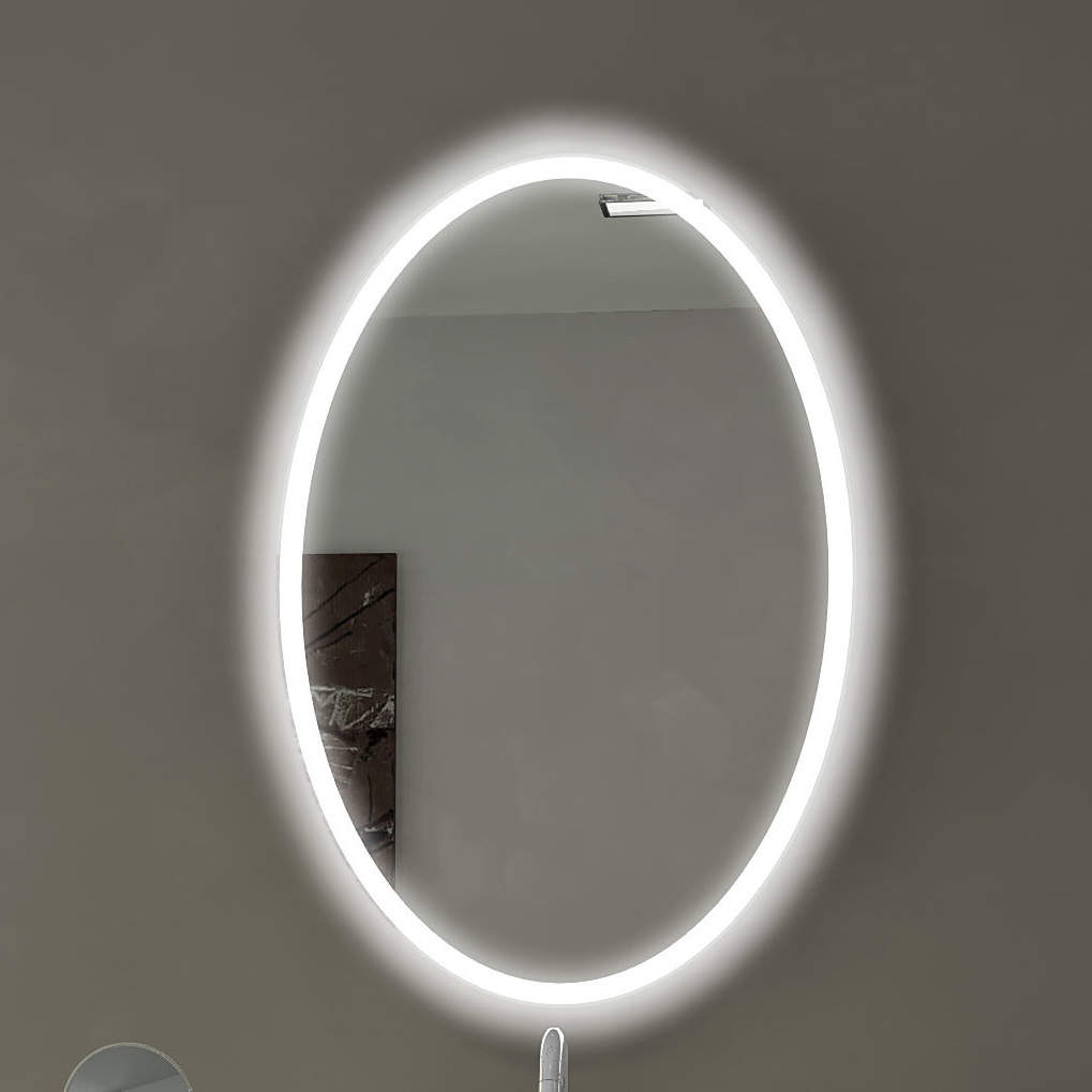Oval Backlit Bathroom / Vanity Wall Mirror Within Current Backlit Wall Mirrors (View 14 of 20)