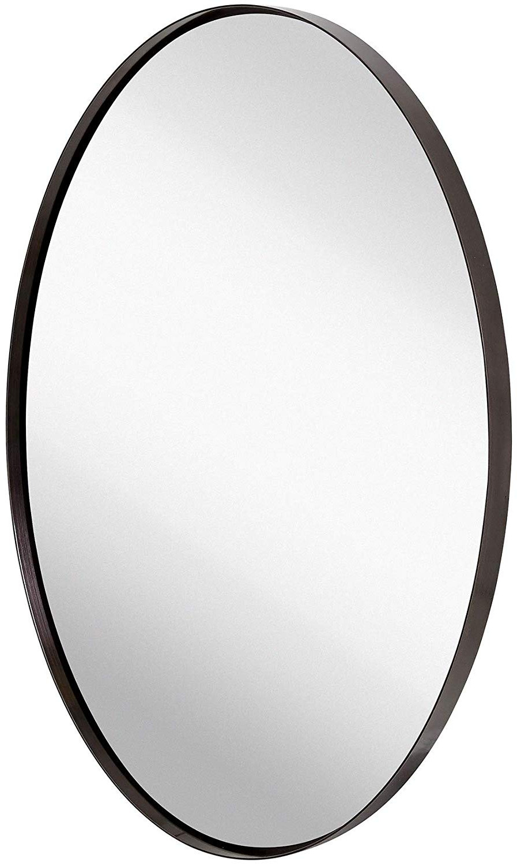 Oval Black Framed  Rounded Deep Set Design (View 6 of 20)