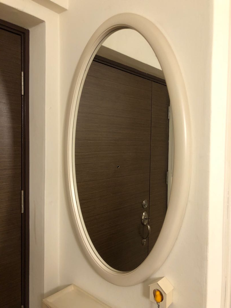 Oval Full Length Wall Mirrors For Favorite Wall Mirror White Oval Shaped, Furniture, Home Decor, Others On (View 16 of 20)