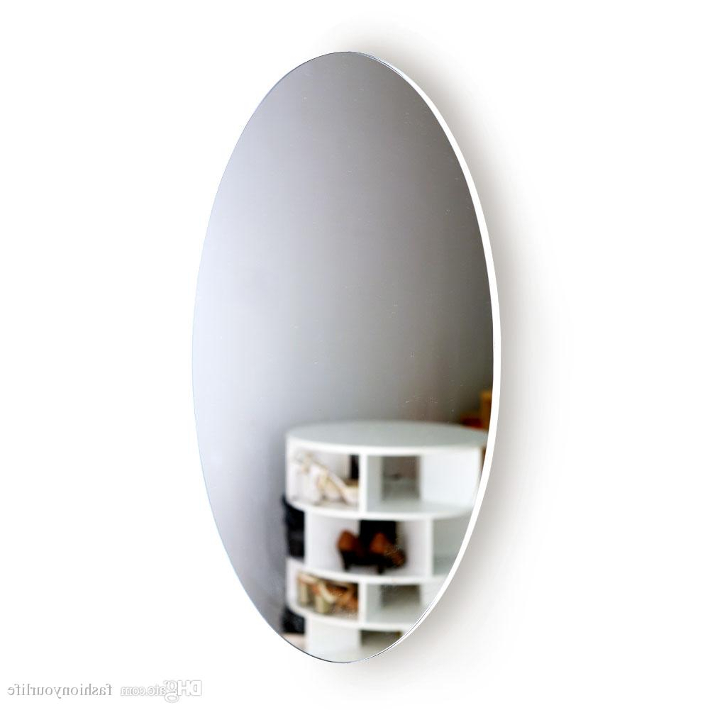 Oval Full Length Wall Mirrors With Well Known Frame Beveled Oval Wall Mirror Classic Design Bedroom Washroom Mirror Shining Beauty Girl Decorative Mirror Oval Beveled Mirror Oval Full Length (View 15 of 20)