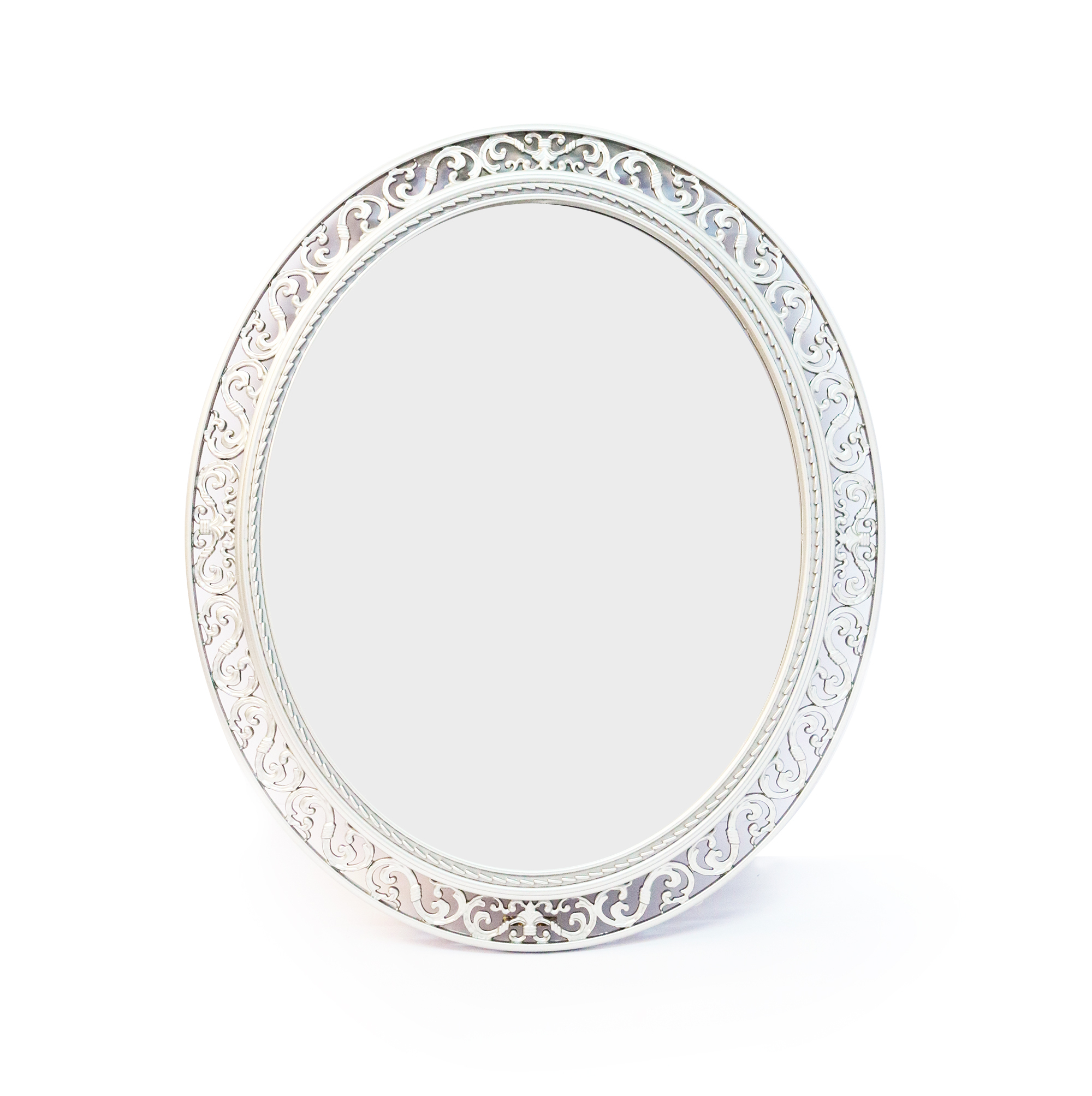 Oval Wall Mirror – Silver With Most Recent Silver Oval Wall Mirrors (View 14 of 20)