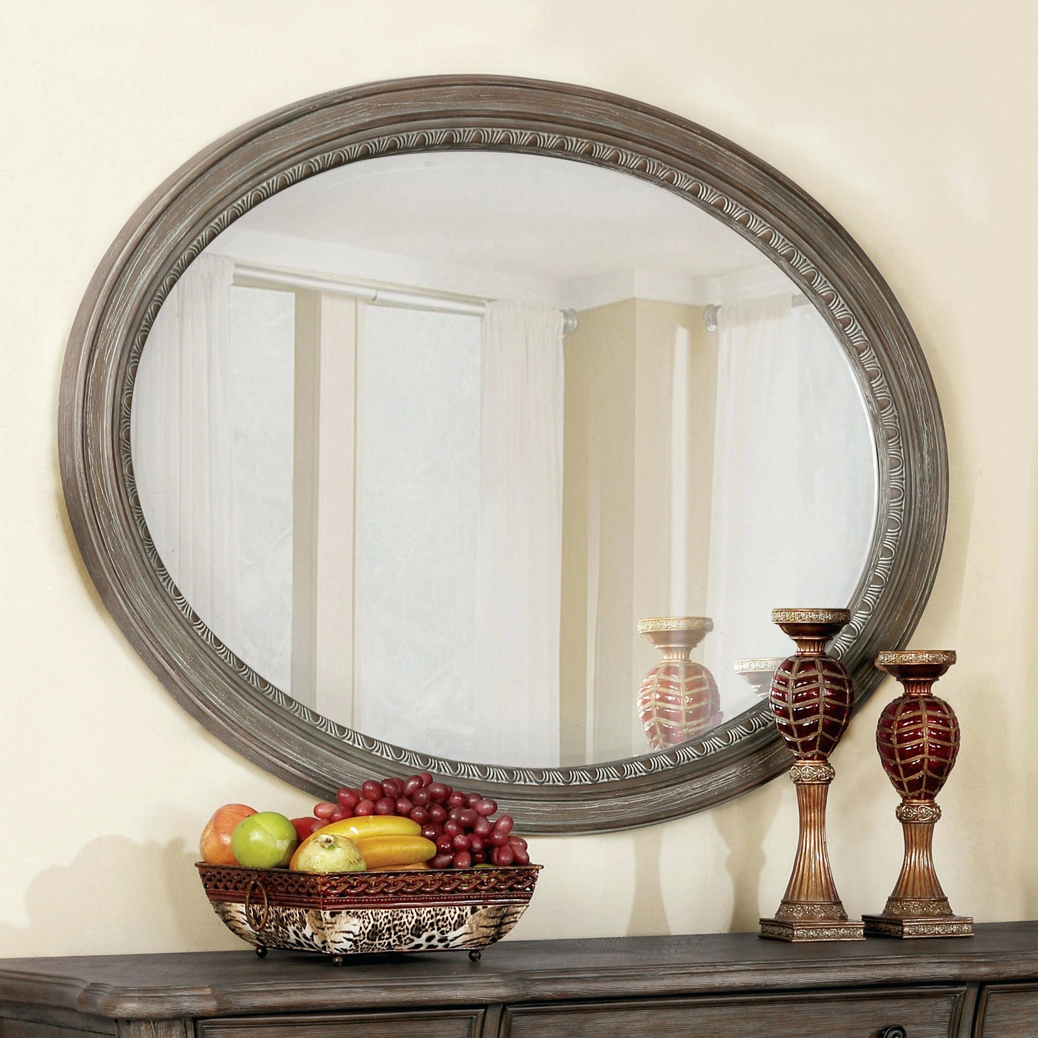 Oval Wood Mirror Intended For Well Liked Oval Wood Wall Mirrors (View 13 of 20)
