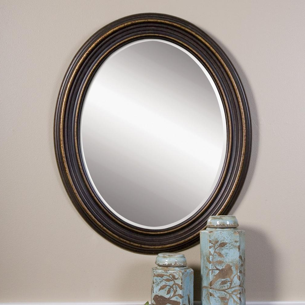 Oval Wood Wall Mirrors In Preferred Global Direct 34 In. X 28 In (View 5 of 20)