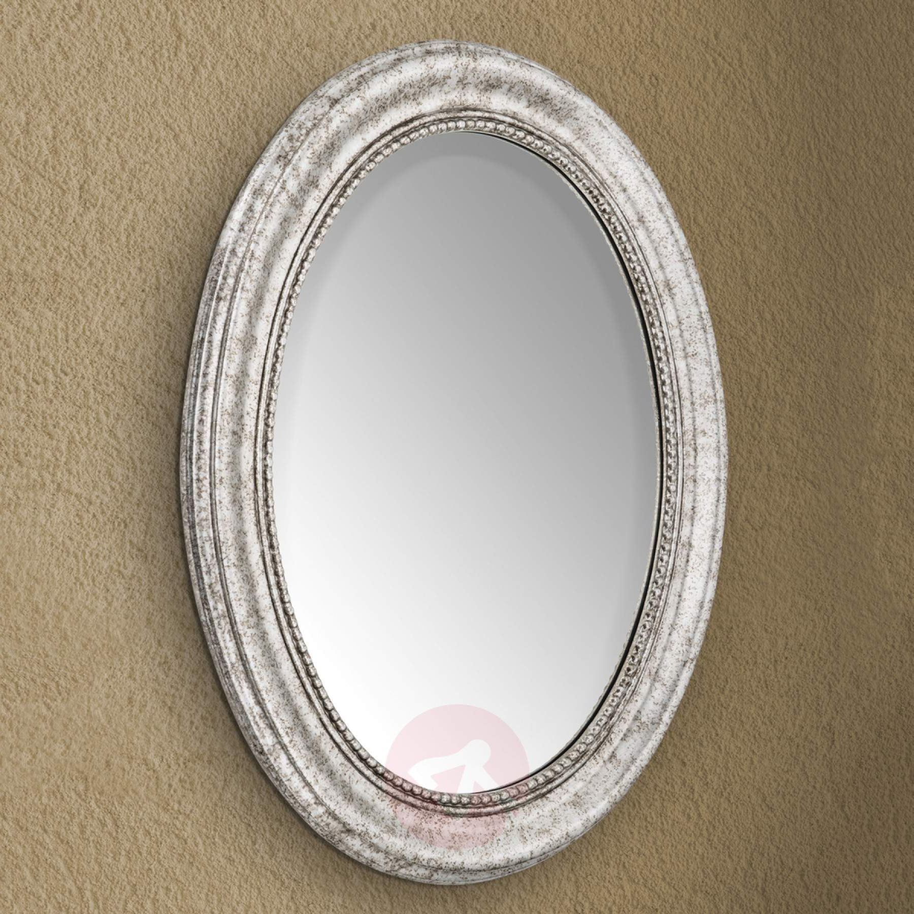 Oval Wood Wall Mirrors With Well Known Oval Wall Mirror Willa With Silver Wooden Frame (View 9 of 20)