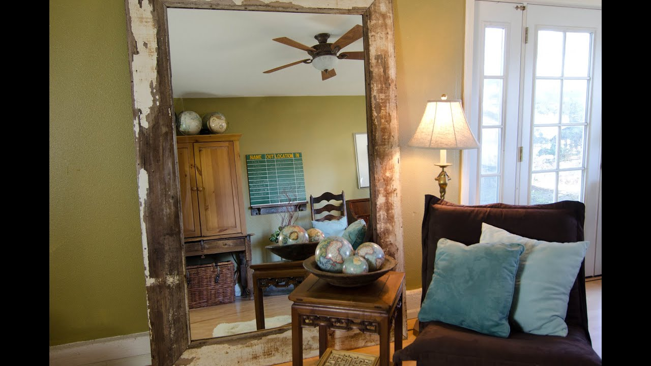 Oversize Wall Mirrors Within Preferred Diy: How To Build A Leaning Floor Mirror For Under $ (View 15 of 20)