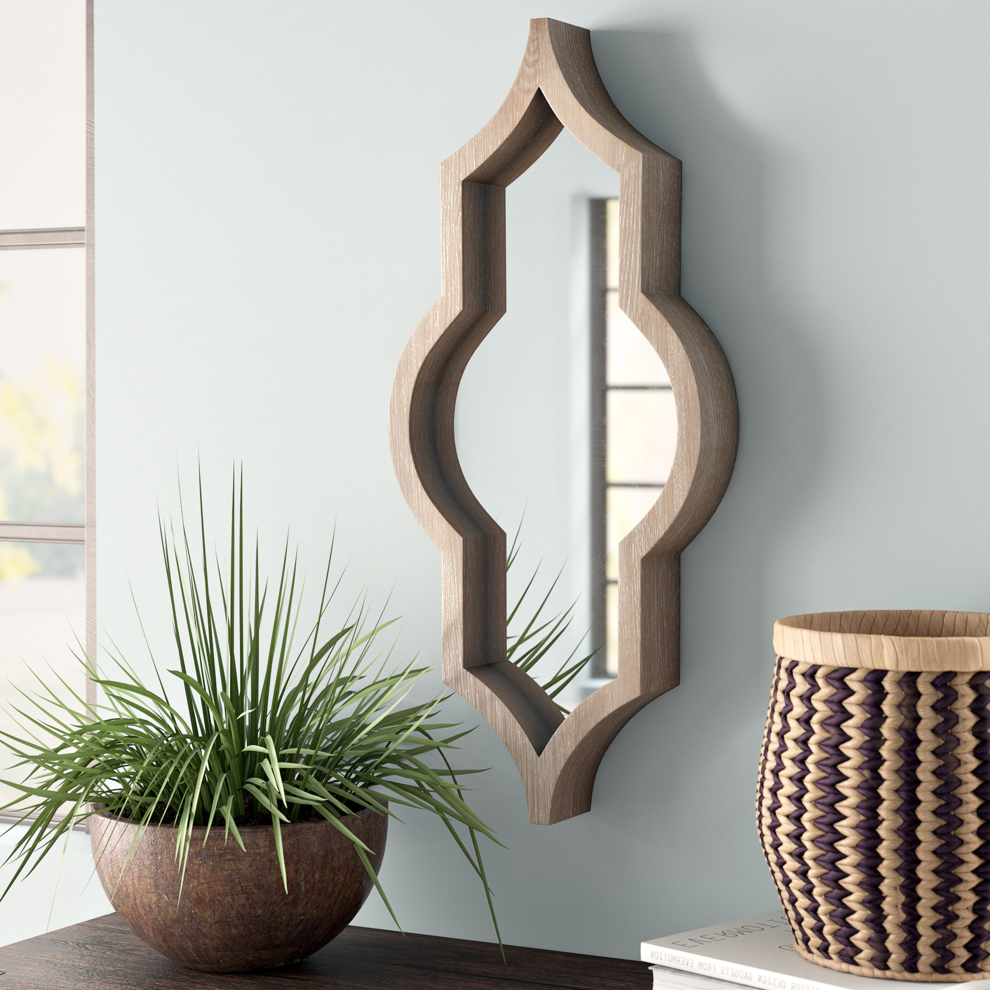 Featured Photo of Padang Irregular Wood Framed Wall Mirrors
