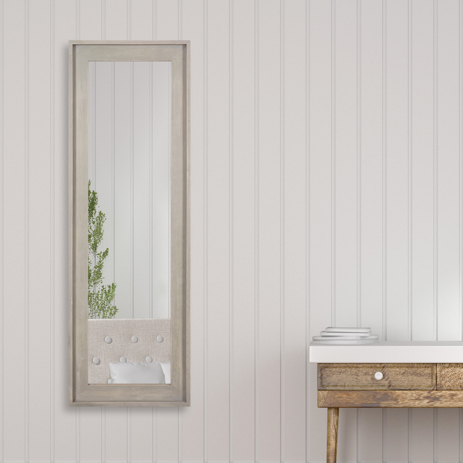 Padang Irregular Wood Framed Wall Mirrors Regarding 2019 Natural Wood Frame Mirror (View 15 of 20)