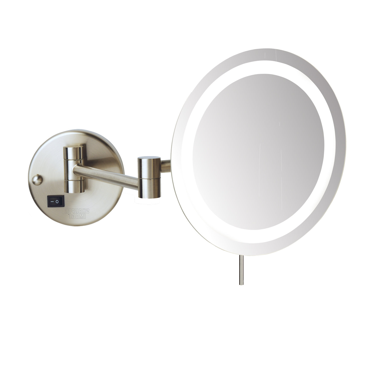 Palumbo Led 8X Magnifying Wall Mount Makeup Mirror With Most Recent Make Up Wall Mirrors (Gallery 15 of 20)