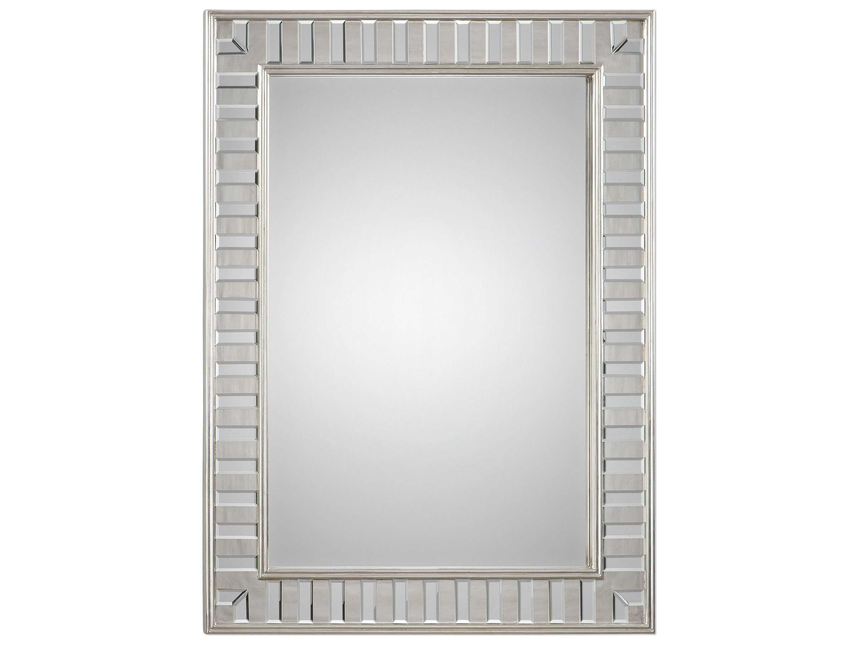 Parsons Wall Mirrors Throughout Well Known Uttermost Jim Parsons Lanester Silver Leaf Mirror (View 7 of 20)